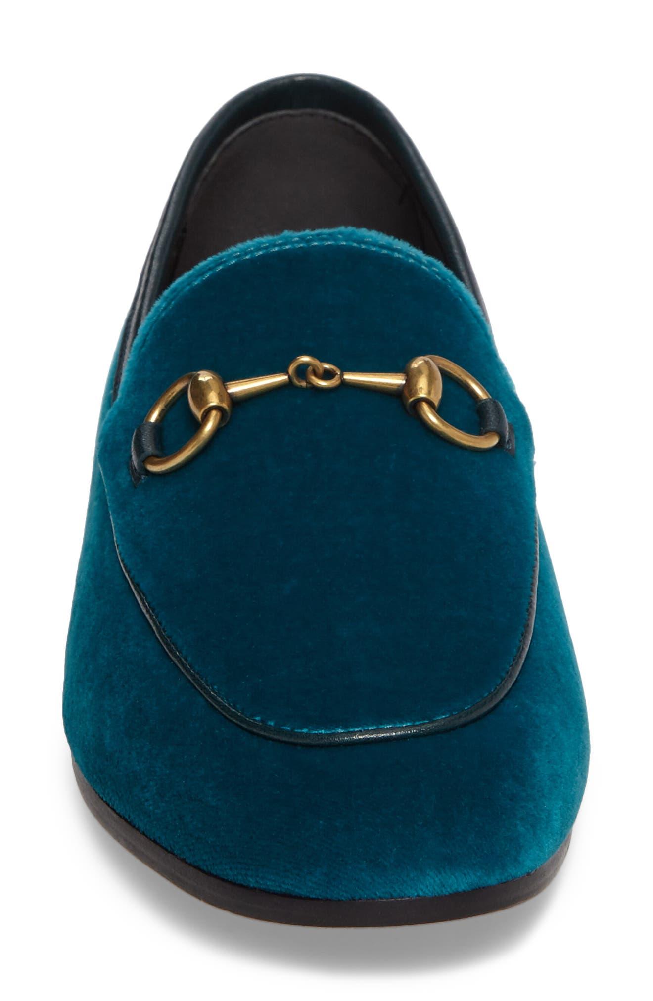 Brixton Velvet Loafer,                             Alternate thumbnail 4, color,                             Blue Velvet
