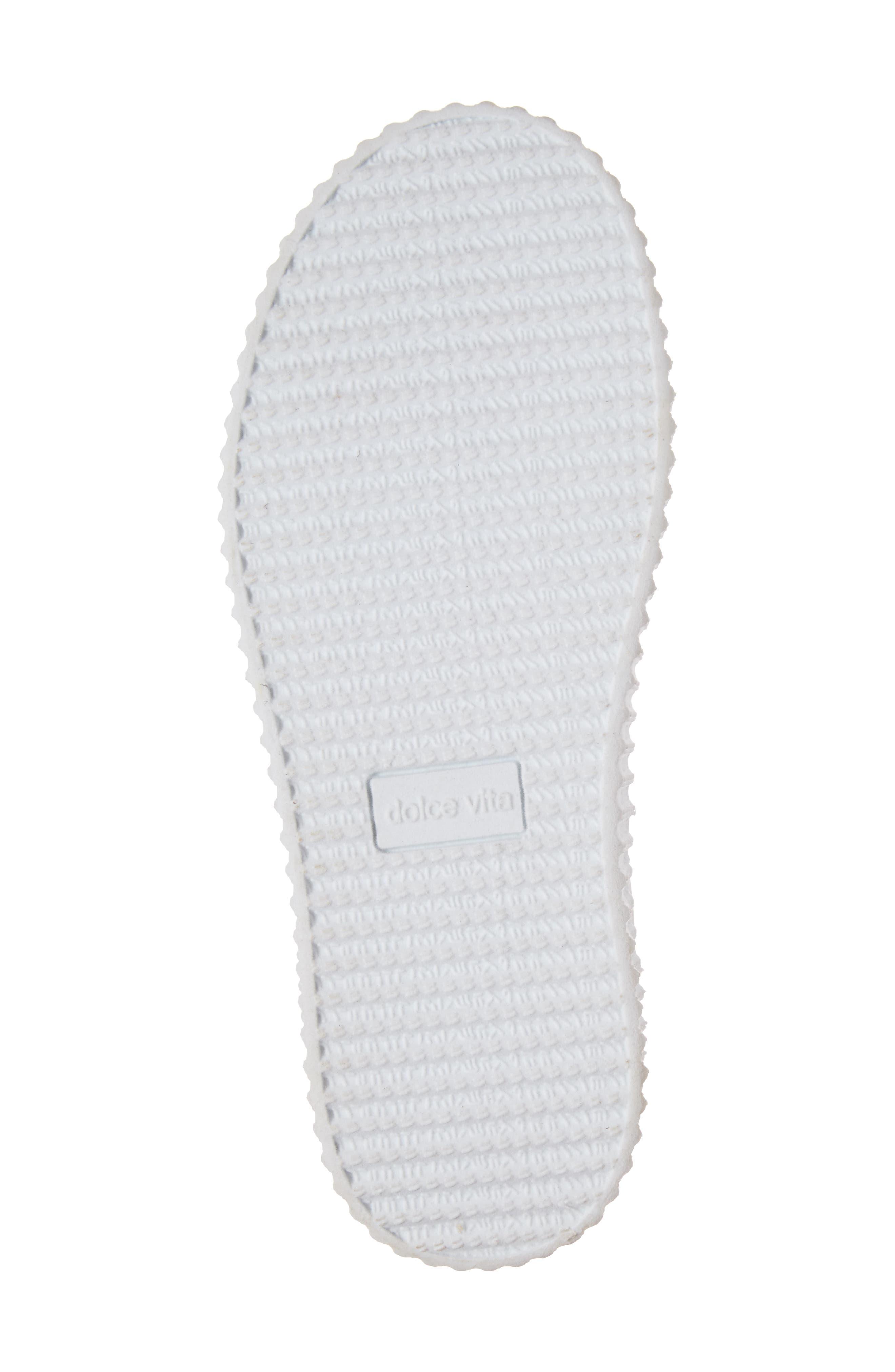 Wren Glitter Heel Sneaker,                             Alternate thumbnail 6, color,                             White