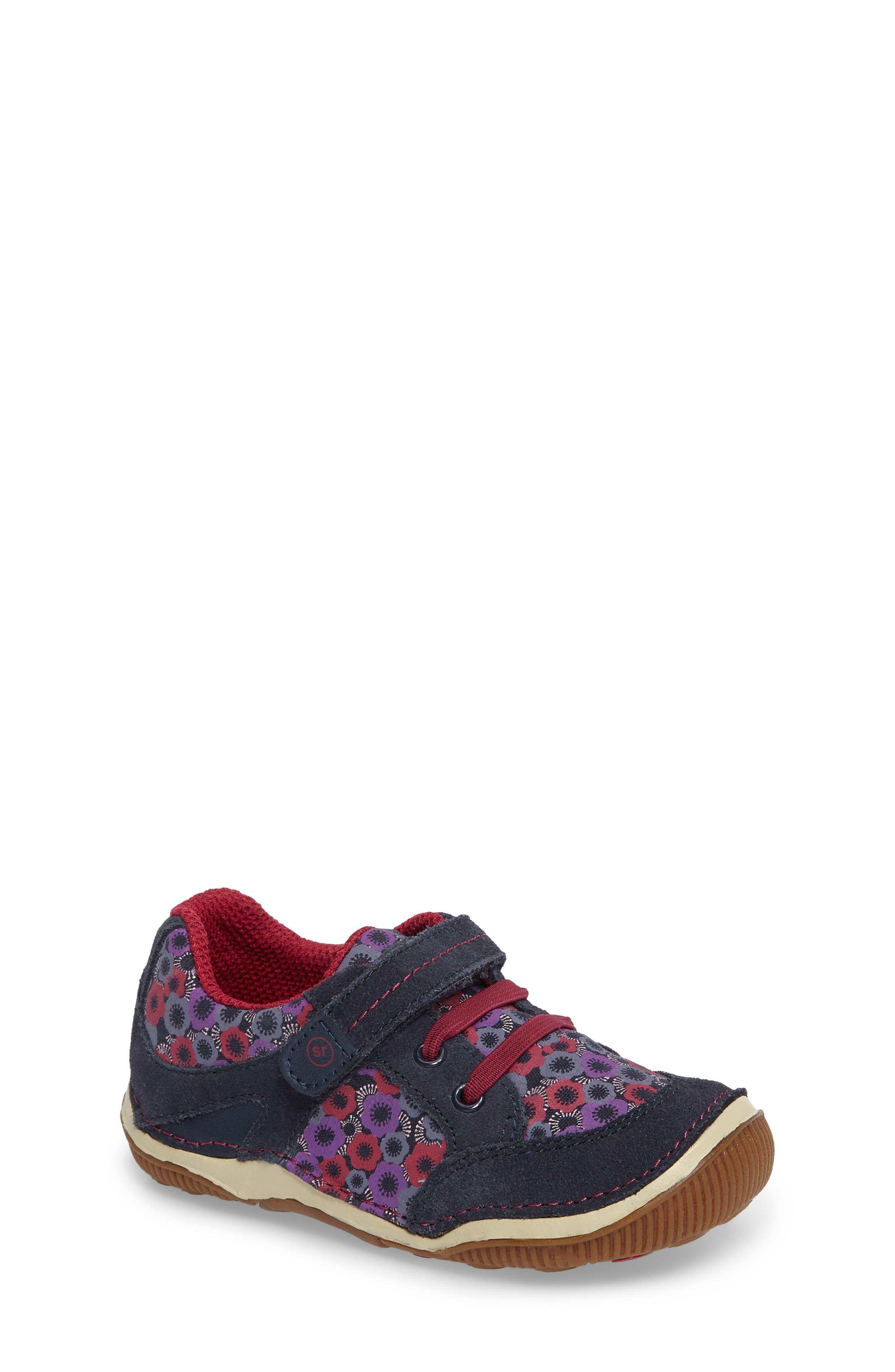 Armorie Flower Print Sneaker,                             Main thumbnail 1, color,                             Navy