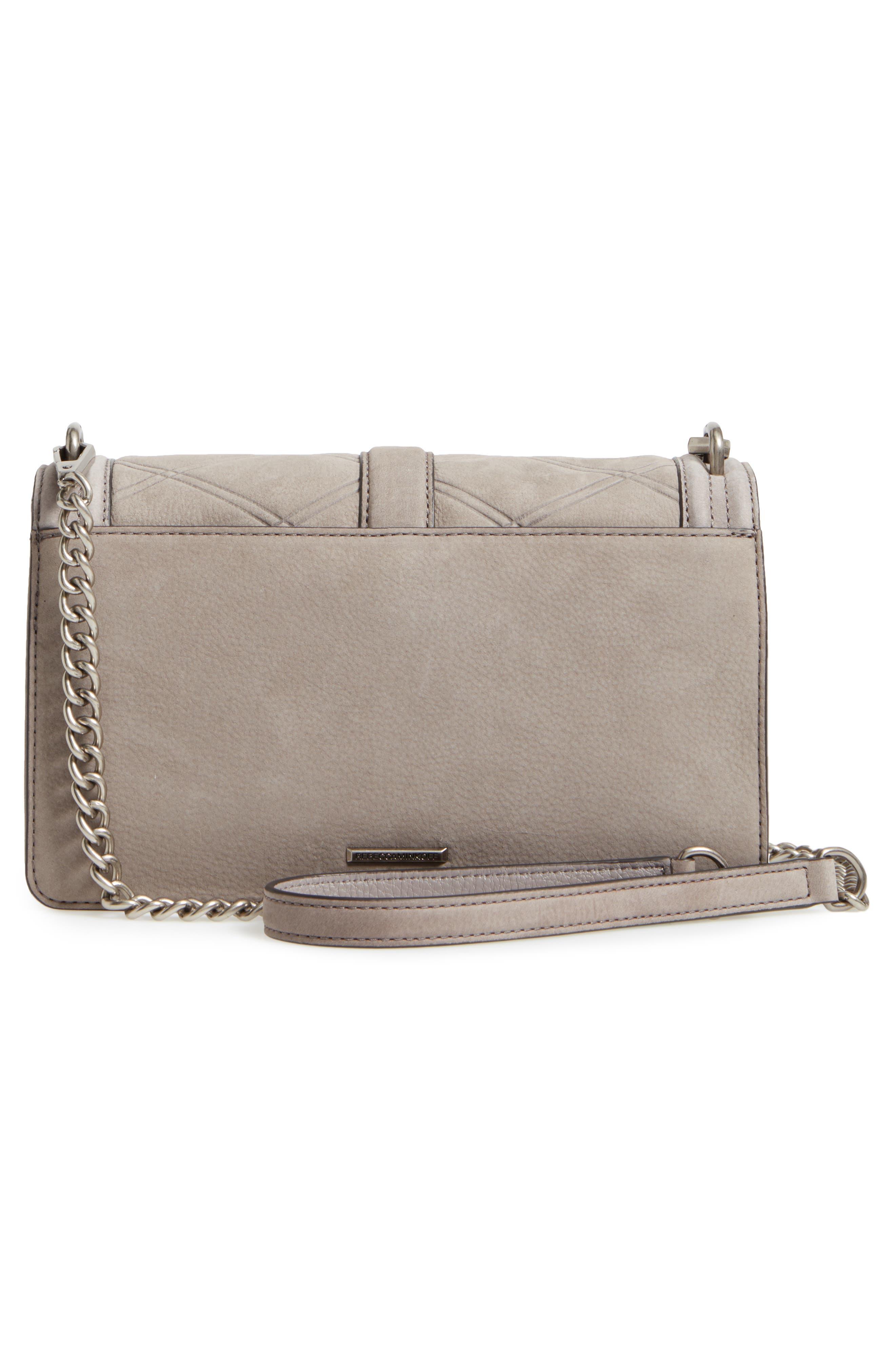 Love Nubuck Crossbody Bag,                             Alternate thumbnail 3, color,                             Grey