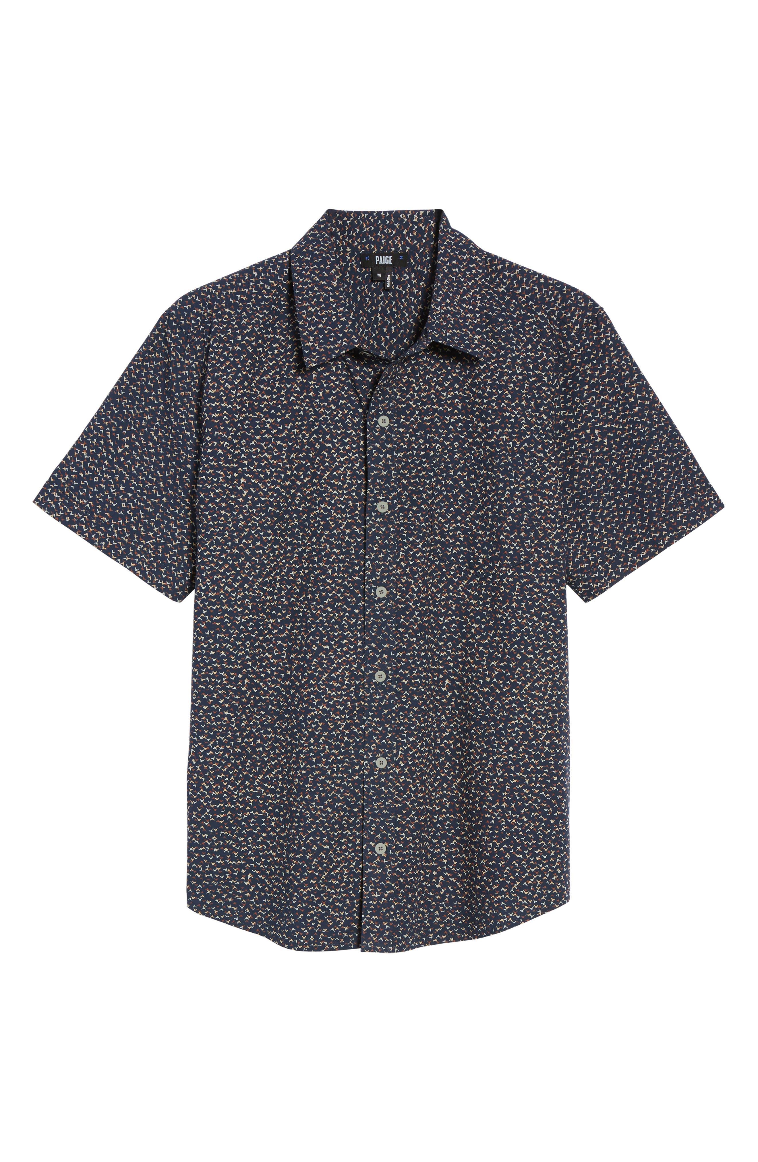 Alternate Image 5  - PAIGE Becker Patterned Woven Shirt