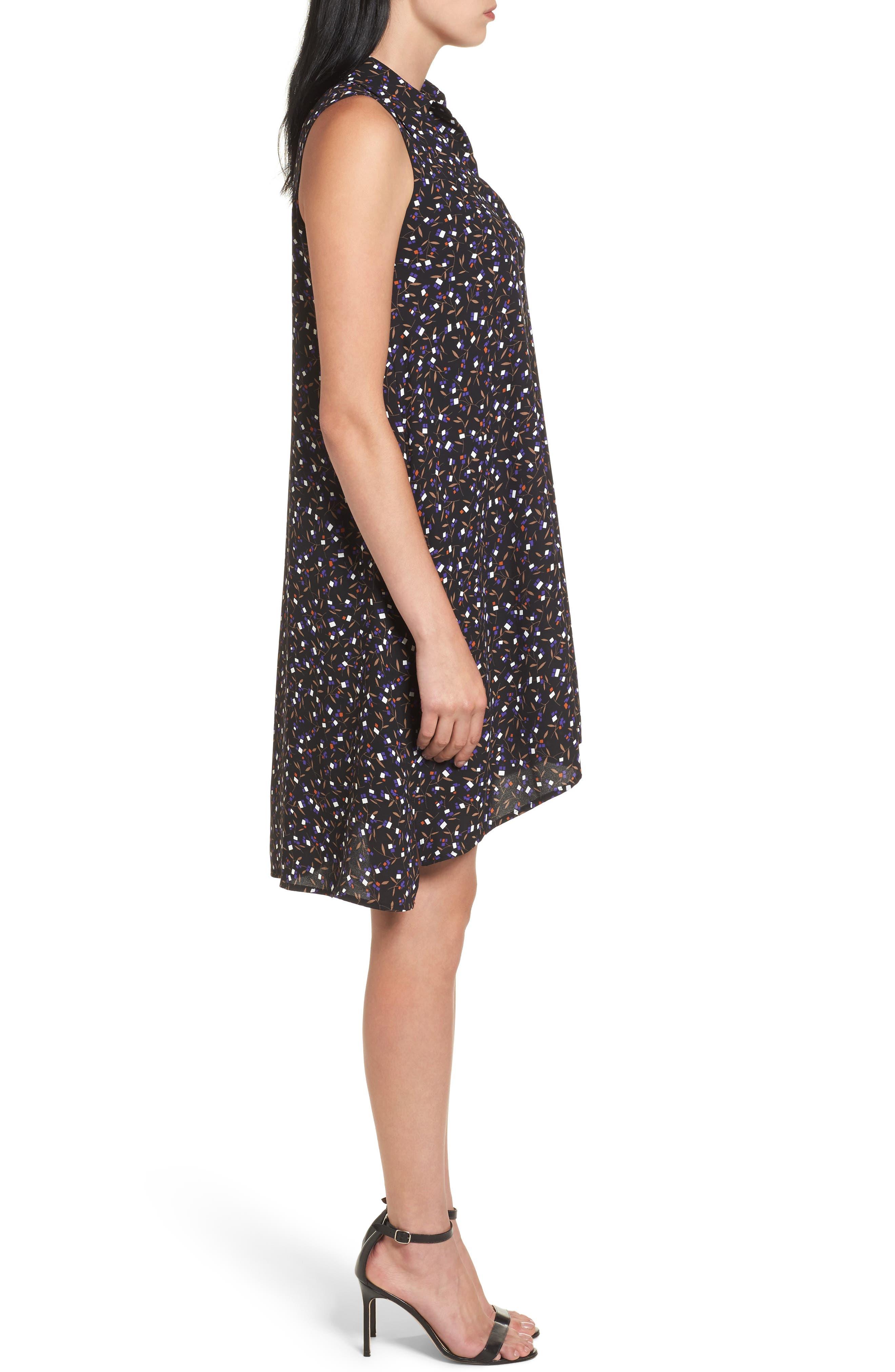 Polo Dress,                             Alternate thumbnail 3, color,                             Black/ Mushroom Combo