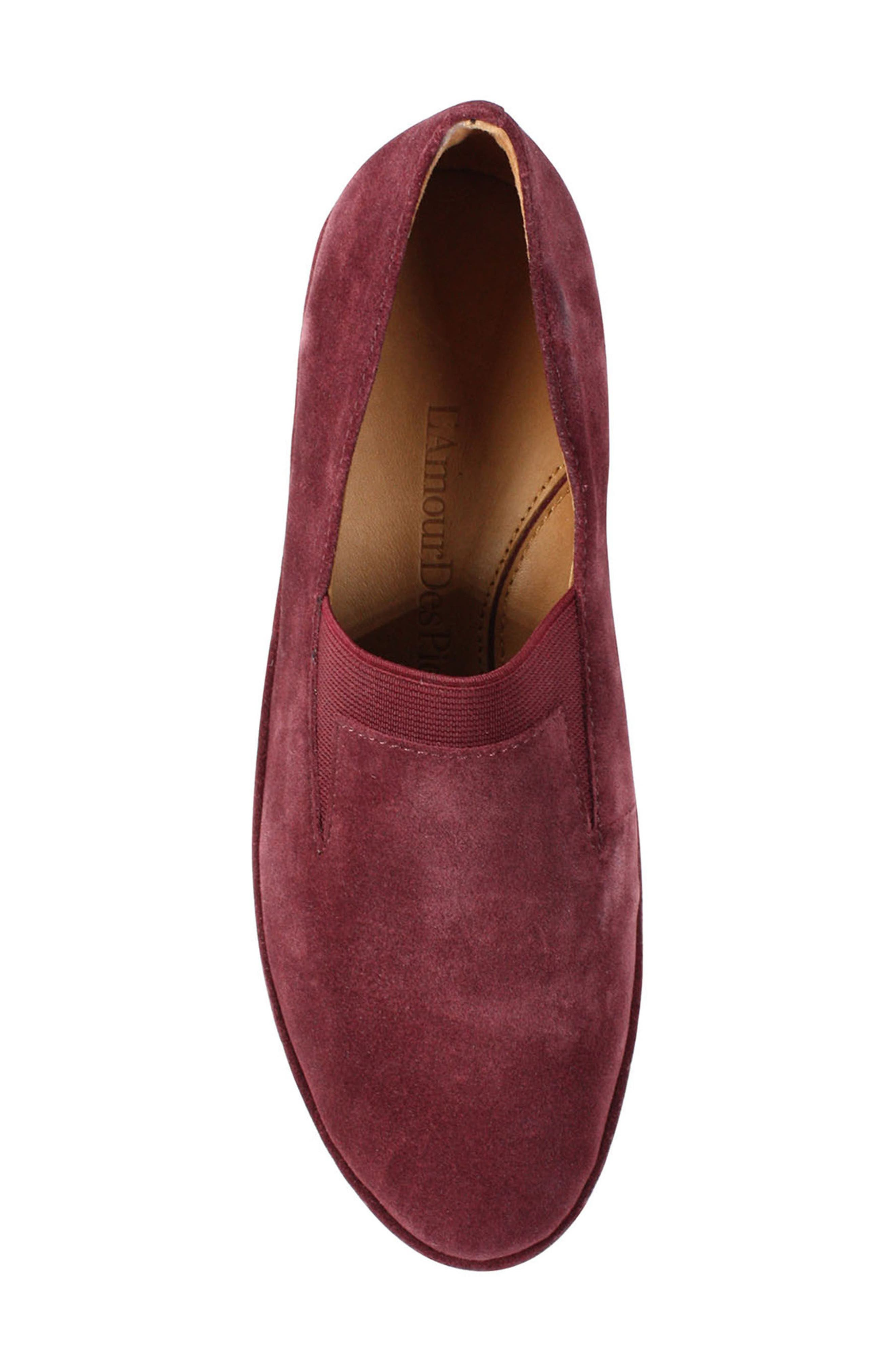 Corrine Slip-On,                             Alternate thumbnail 5, color,                             Mulberry Suede