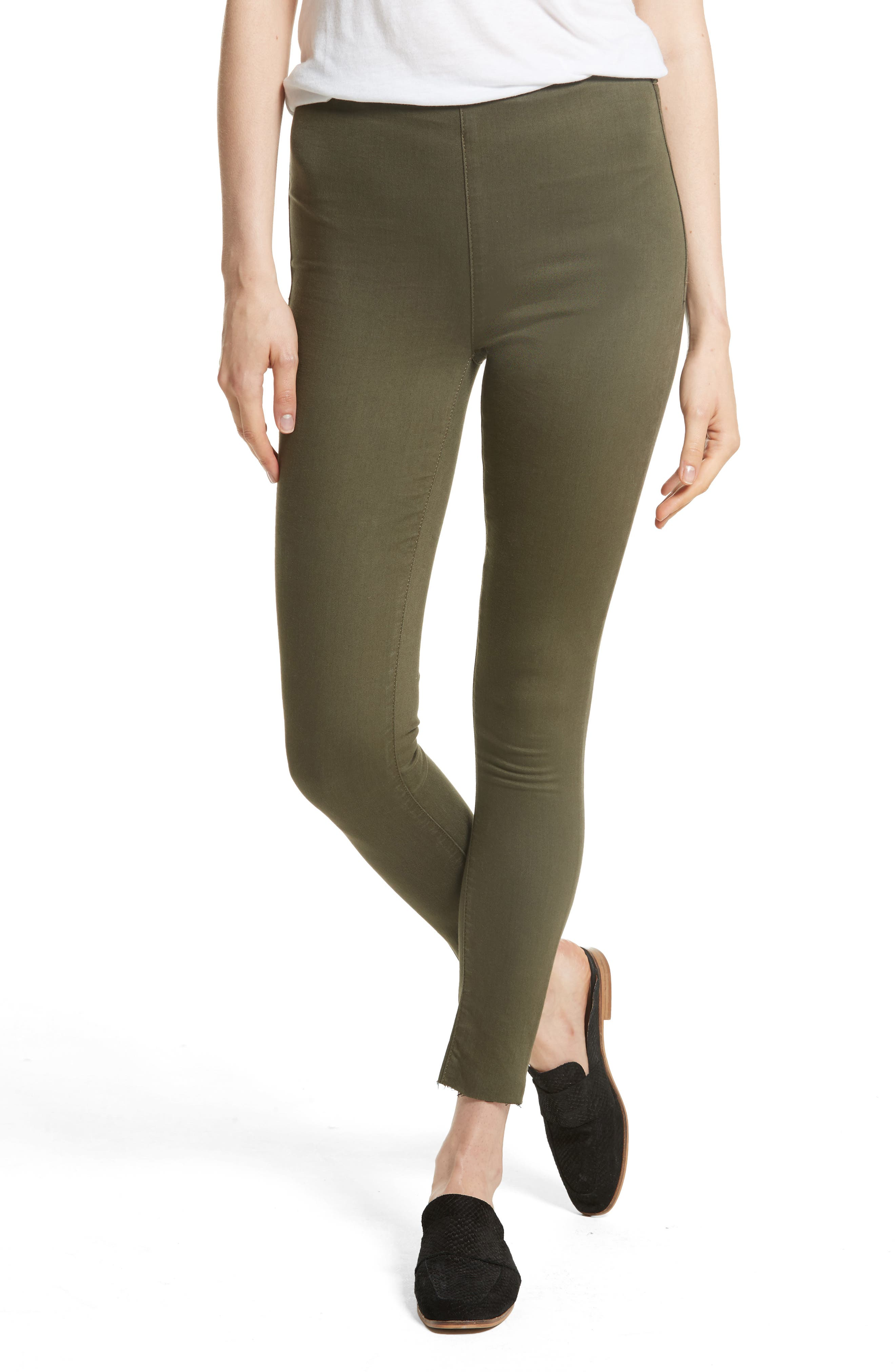 We the Free by Free People Easy Goes It Leggings,                         Main,                         color, Moss
