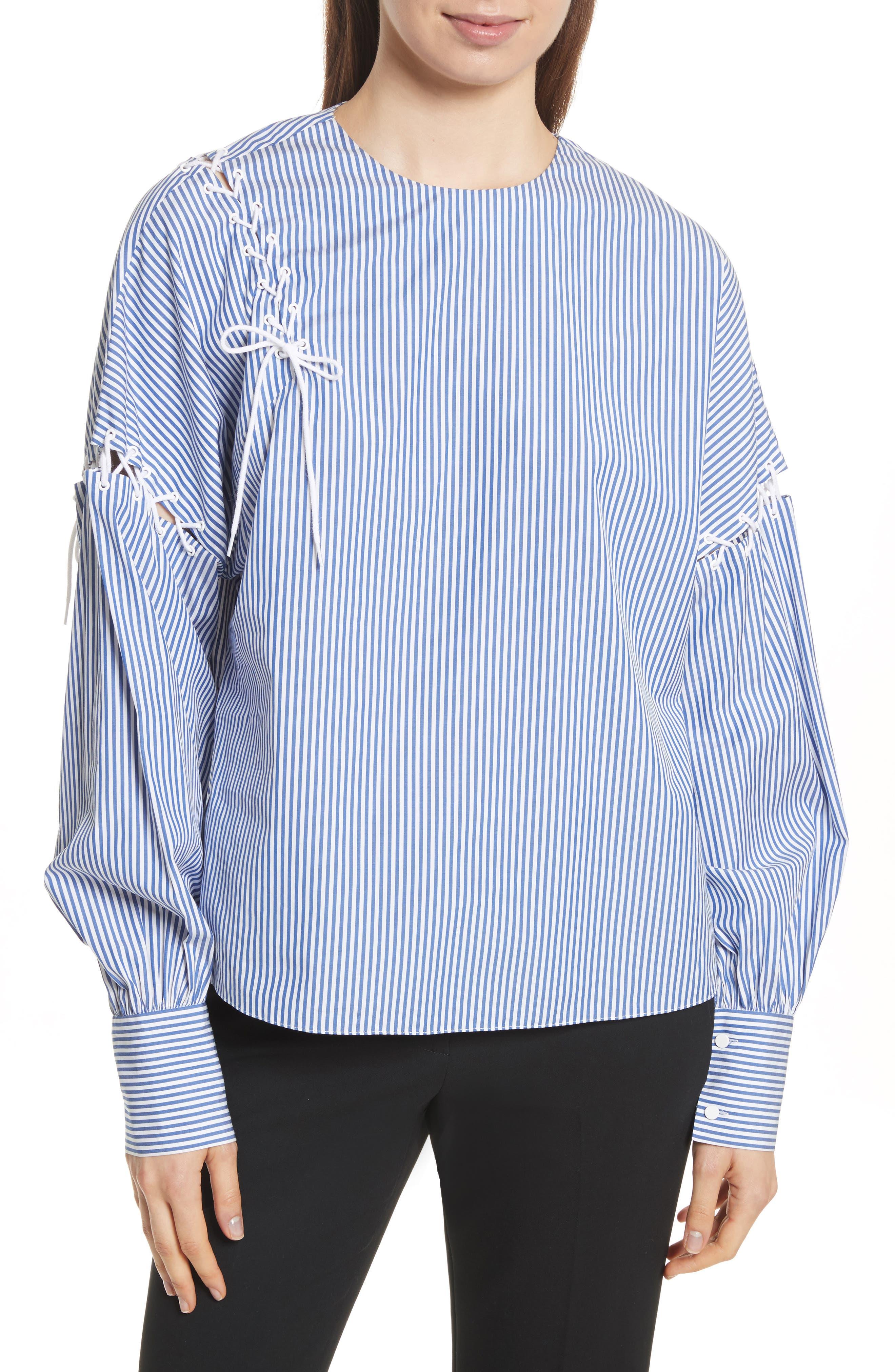 Tibi Shirting Stripe Top