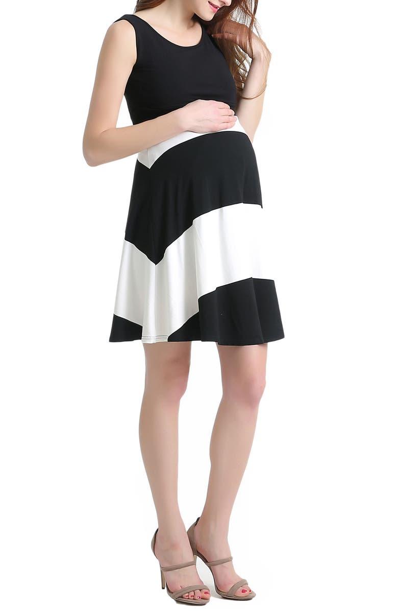 Amanda Stripe Maternity Babydoll Dress