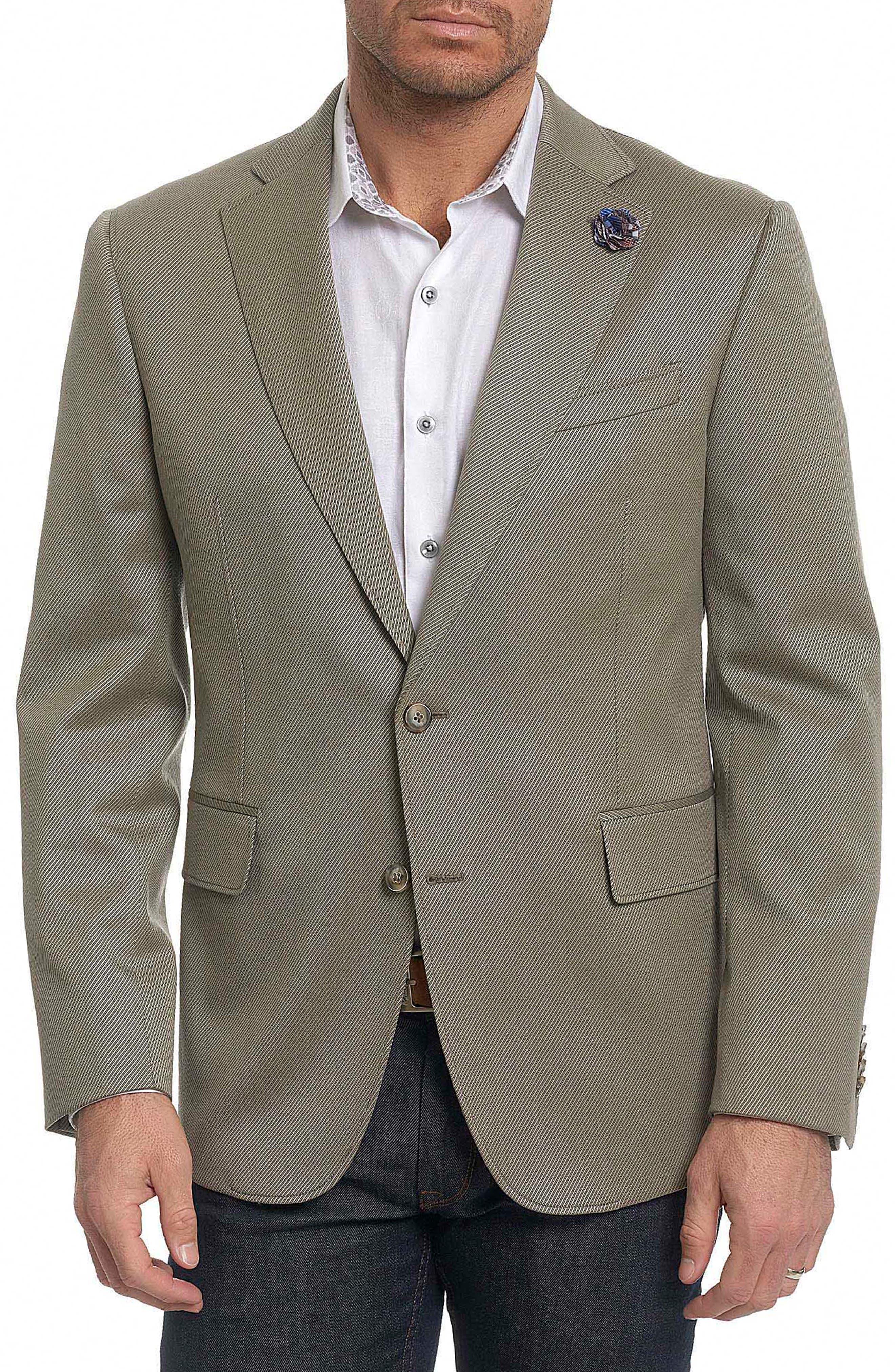 Castille Classic Fit Wool Blend Sport Coat,                         Main,                         color, Taupe