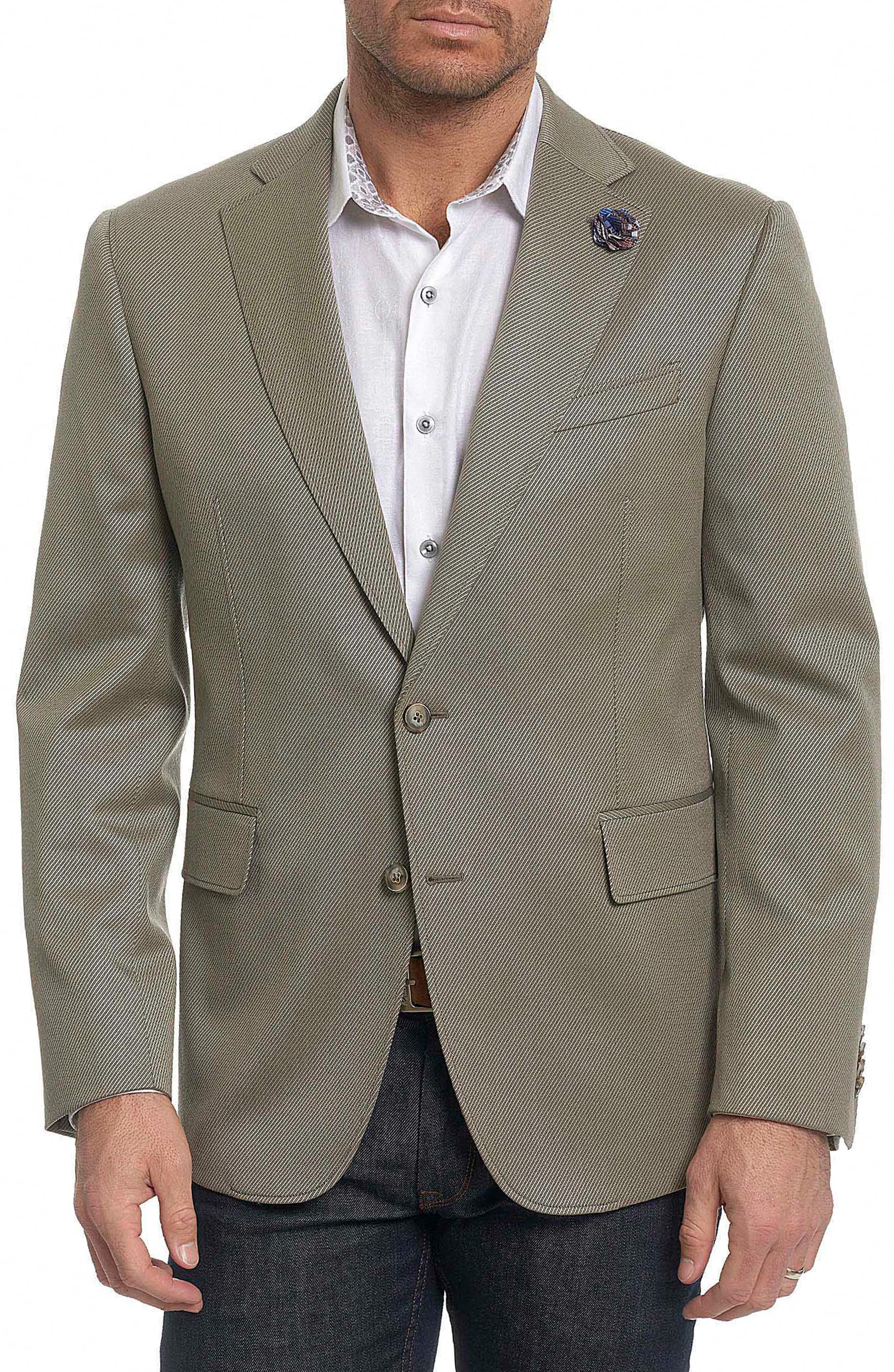 Castille Classic Fit Wool Blend Sport Coat,                         Main,                         color, Taupe