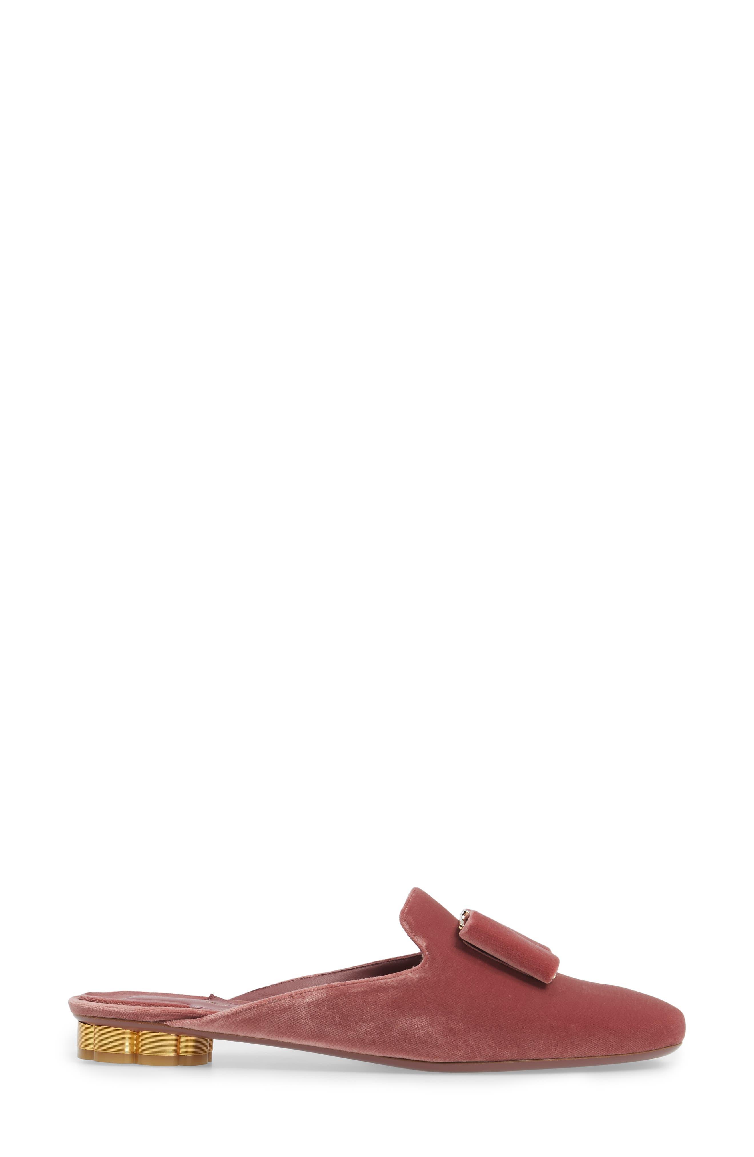 Backless Loafer Mule,                             Alternate thumbnail 3, color,                             New Griotte Velvet