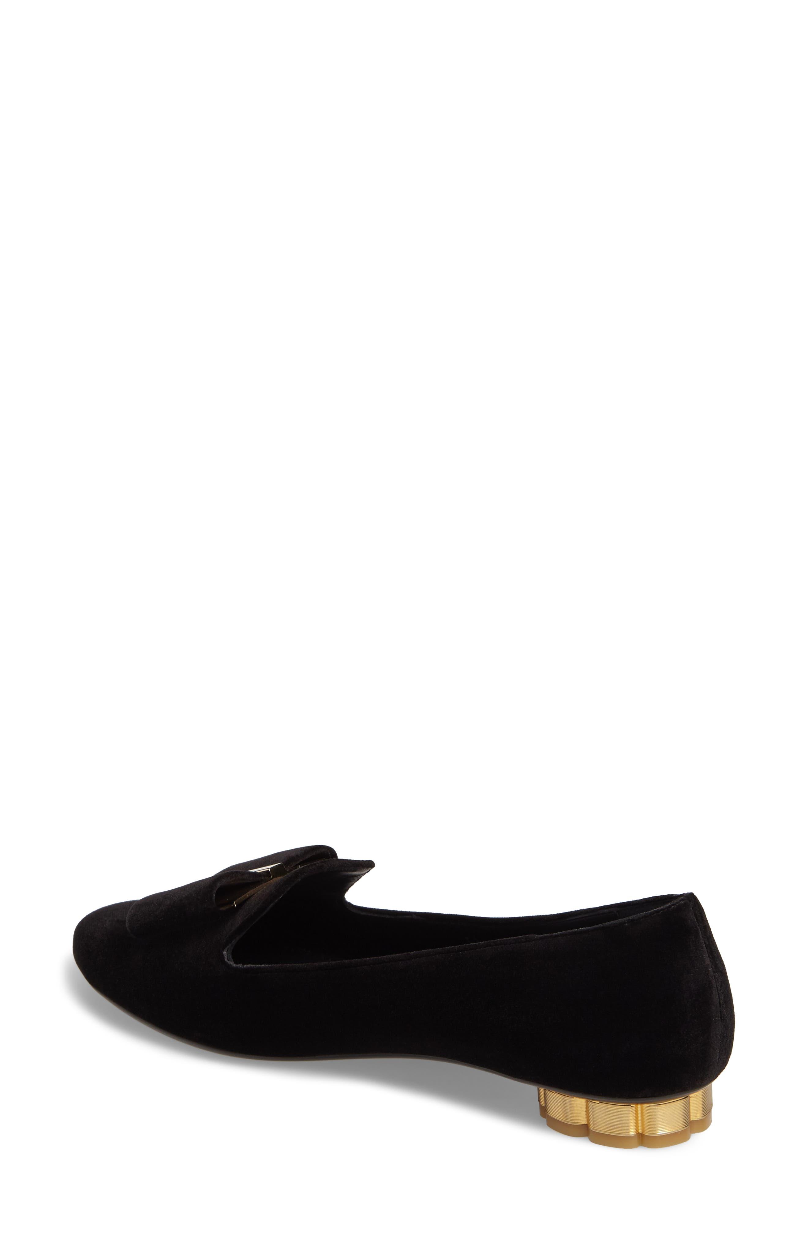 Alternate Image 2  - Salvatore Ferragamo Sarno Flower Heel Smoking Loafer (Women)