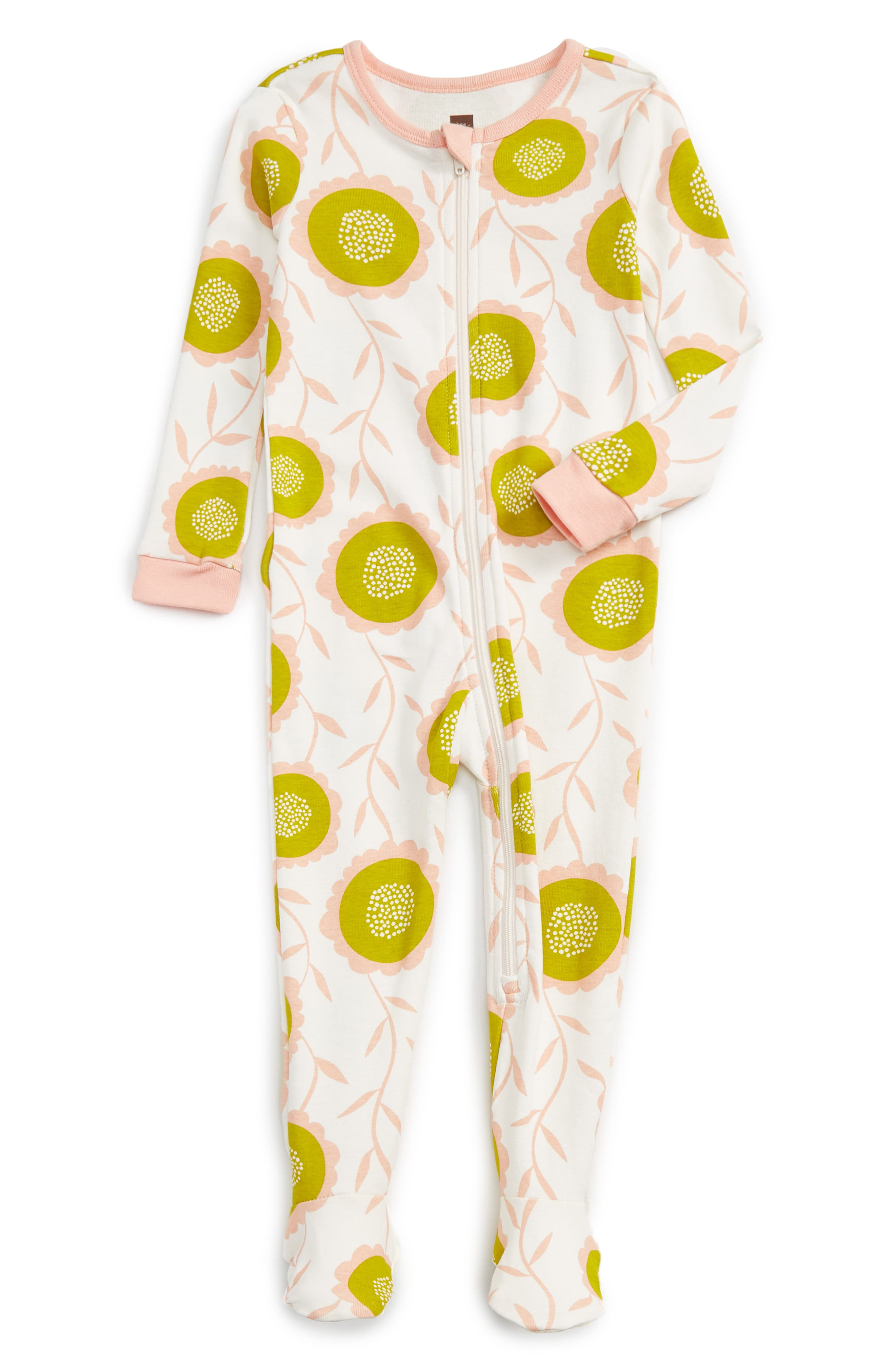 Tea Collection Bruadarach Fitted One-Piece Pajamas (Baby Girls)