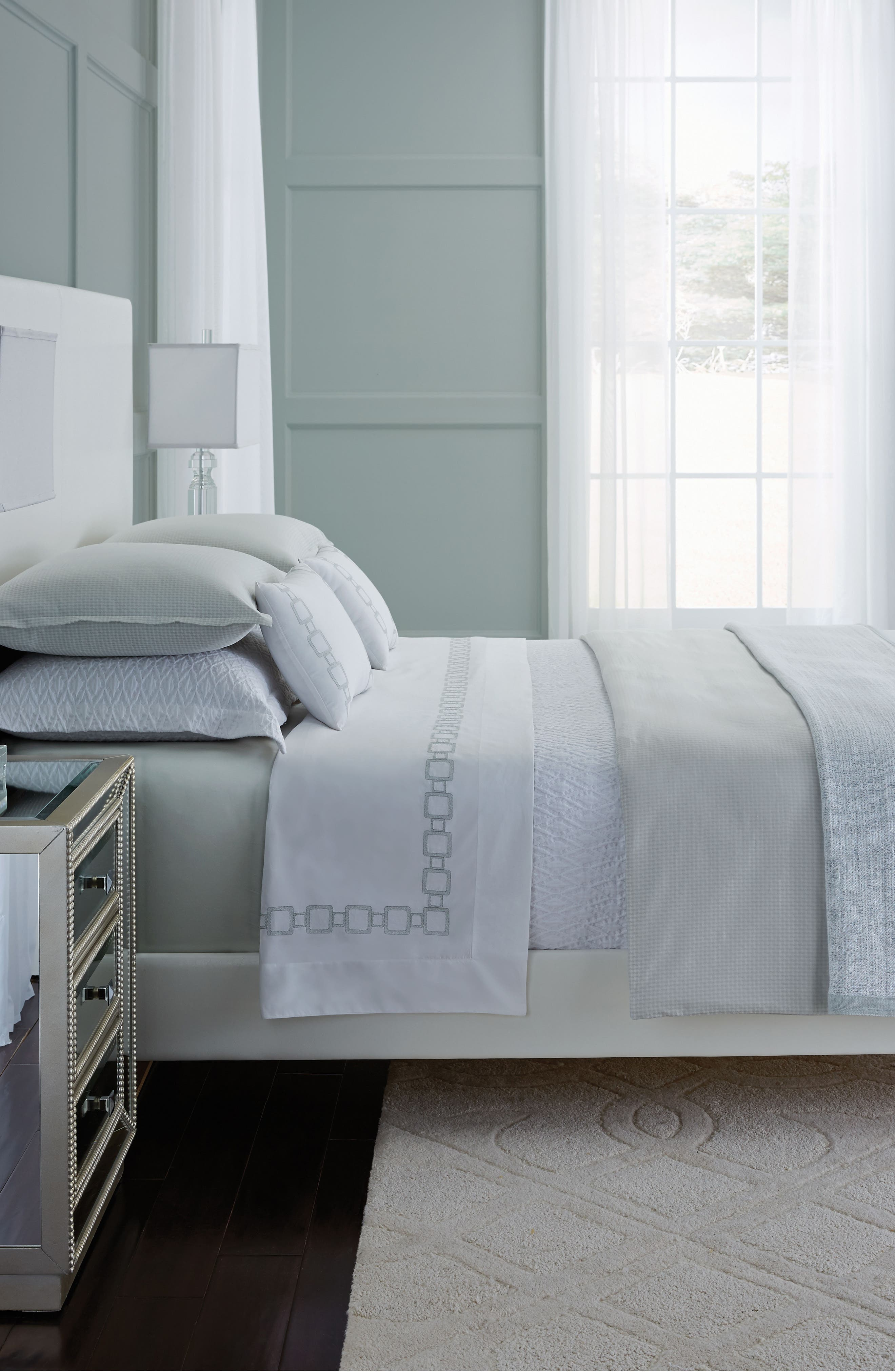 Nivola Duvet Cover,                         Main,                         color, Silversage