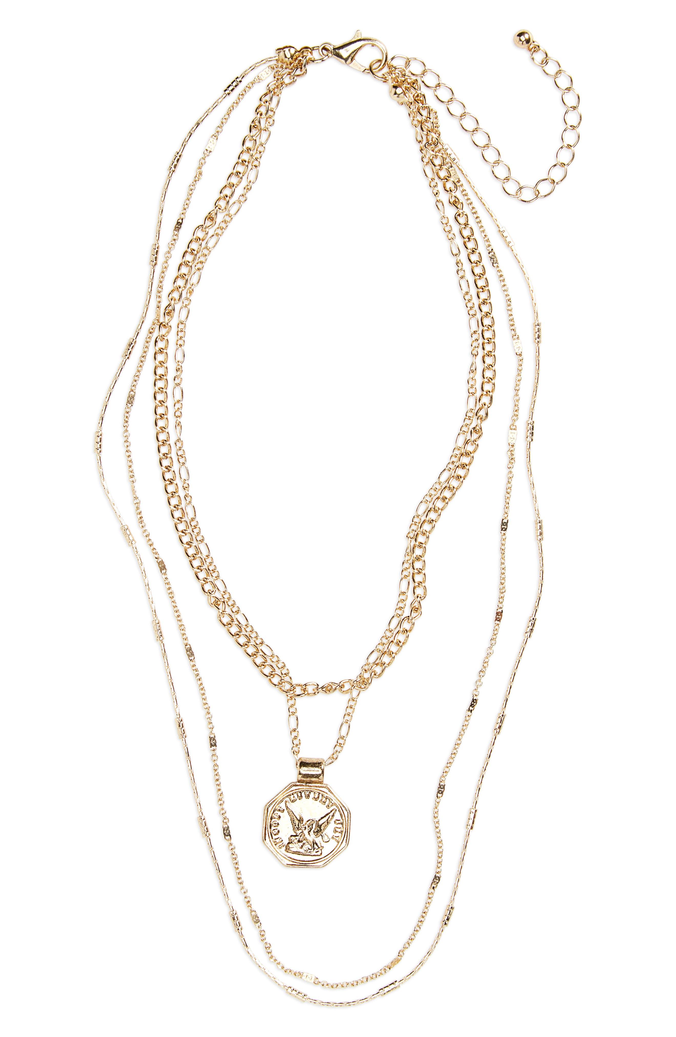 BP. Multistrand Pendant Necklace