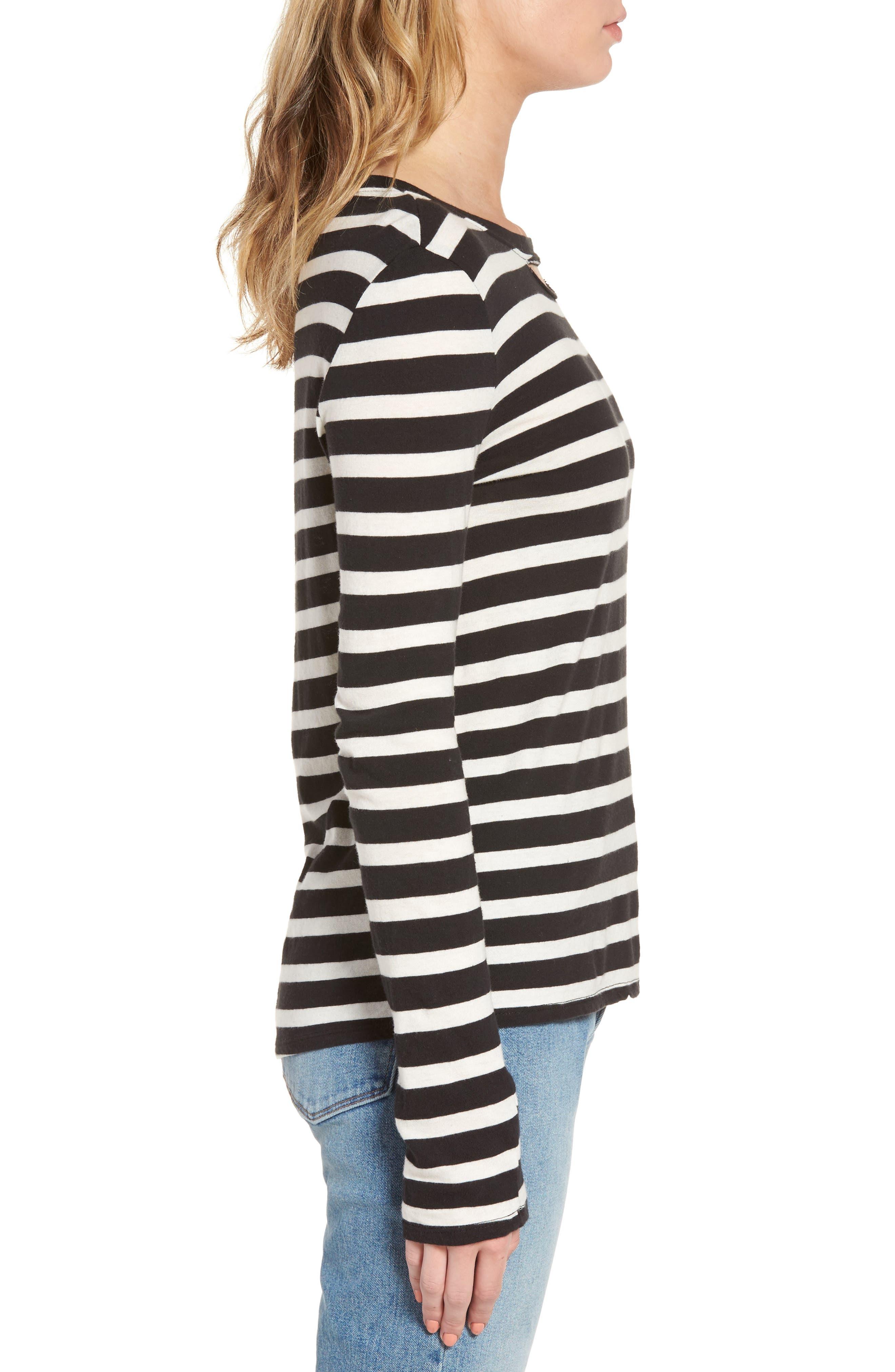 Alternate Image 4  - Pam & Gela Stripe Long Sleeve Top