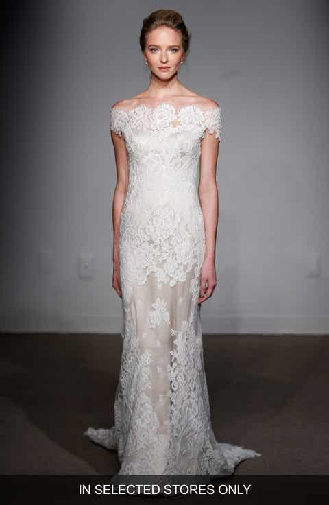 Anna Maier Couture Gabrielle Off The Shoulder Corded Lace Gown Regular Plus