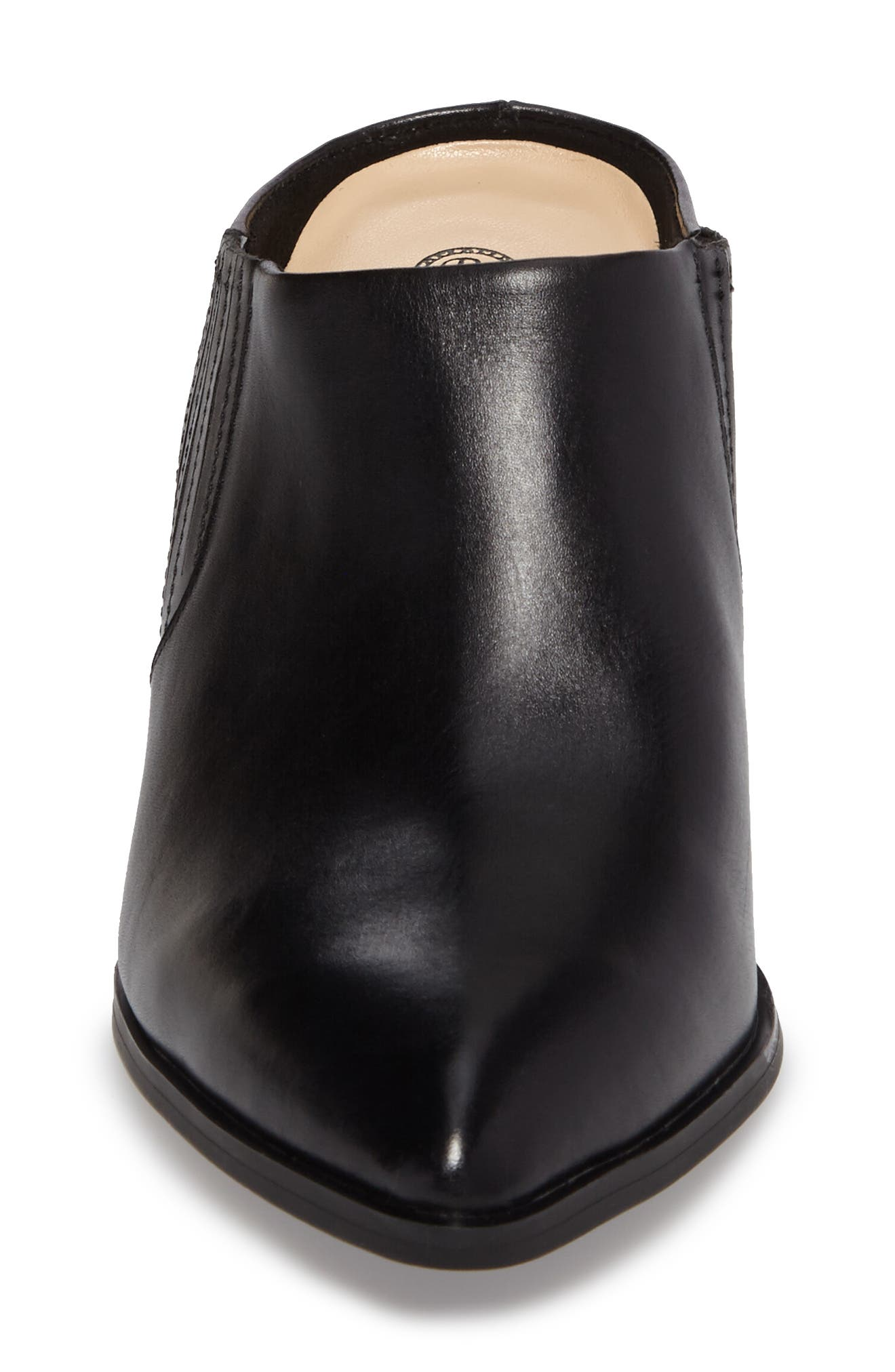 Eden Mule,                             Alternate thumbnail 4, color,                             Black Leather