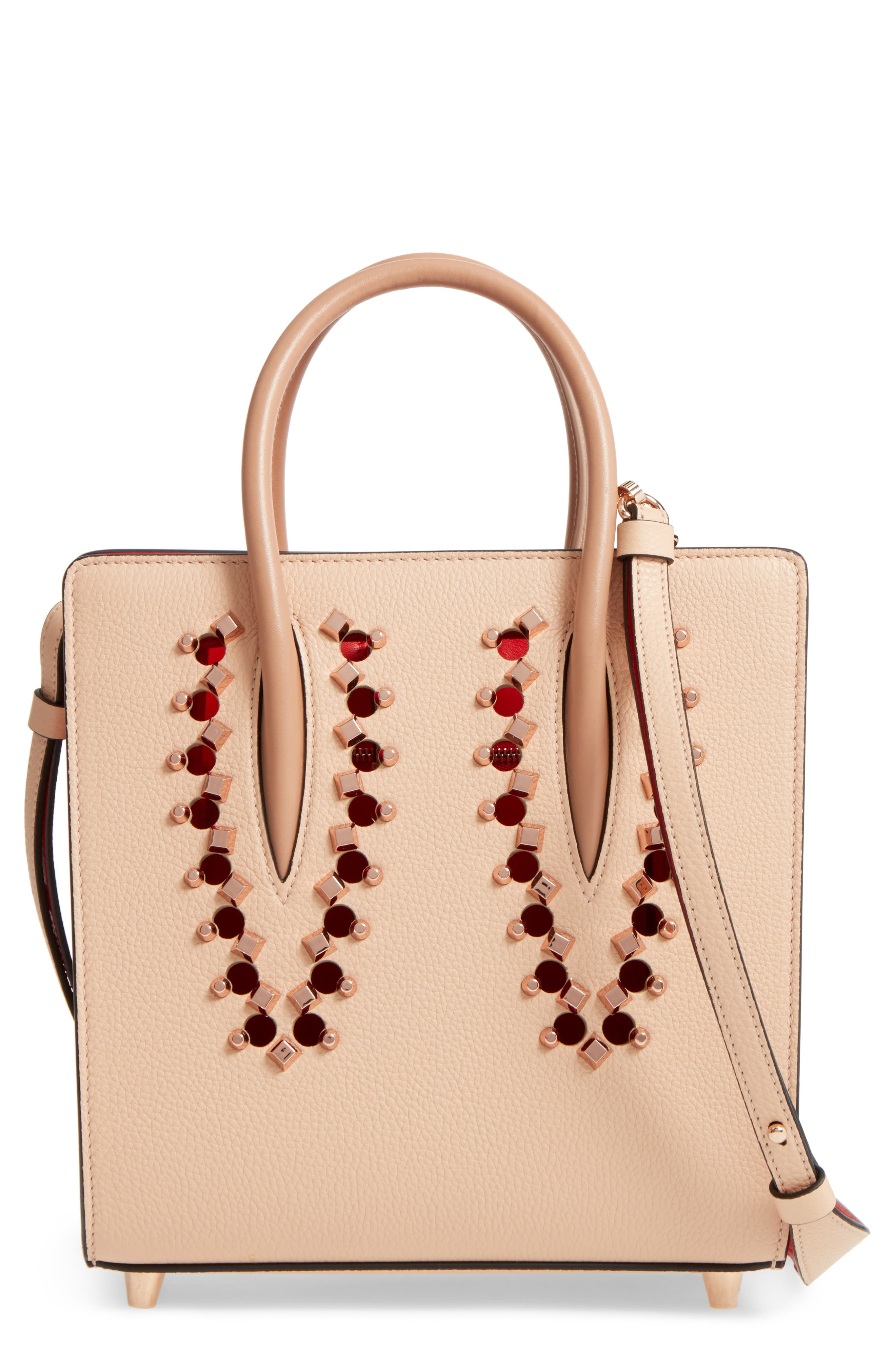 Small Paloma Empire Leather Tote,                         Main,                         color, Naturel/ Rose Gold