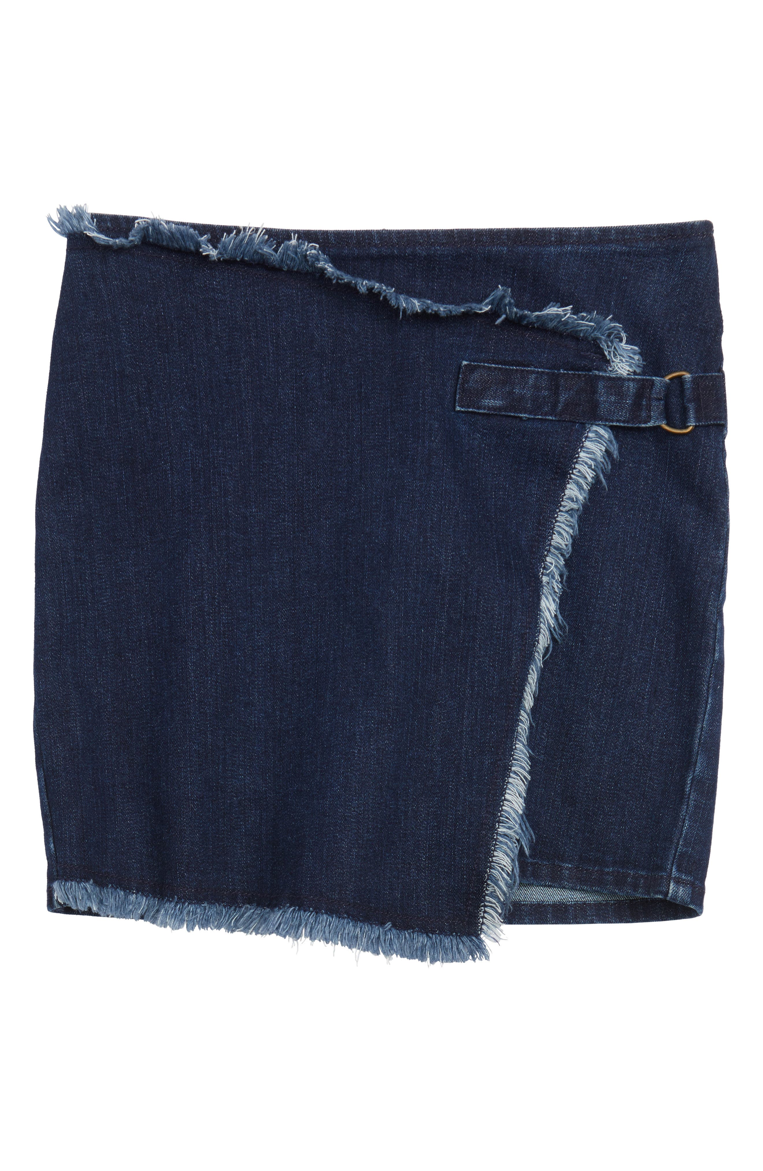 Treasure & Bond Asymmetrical Wrap Denim Skirt (Big Girls)
