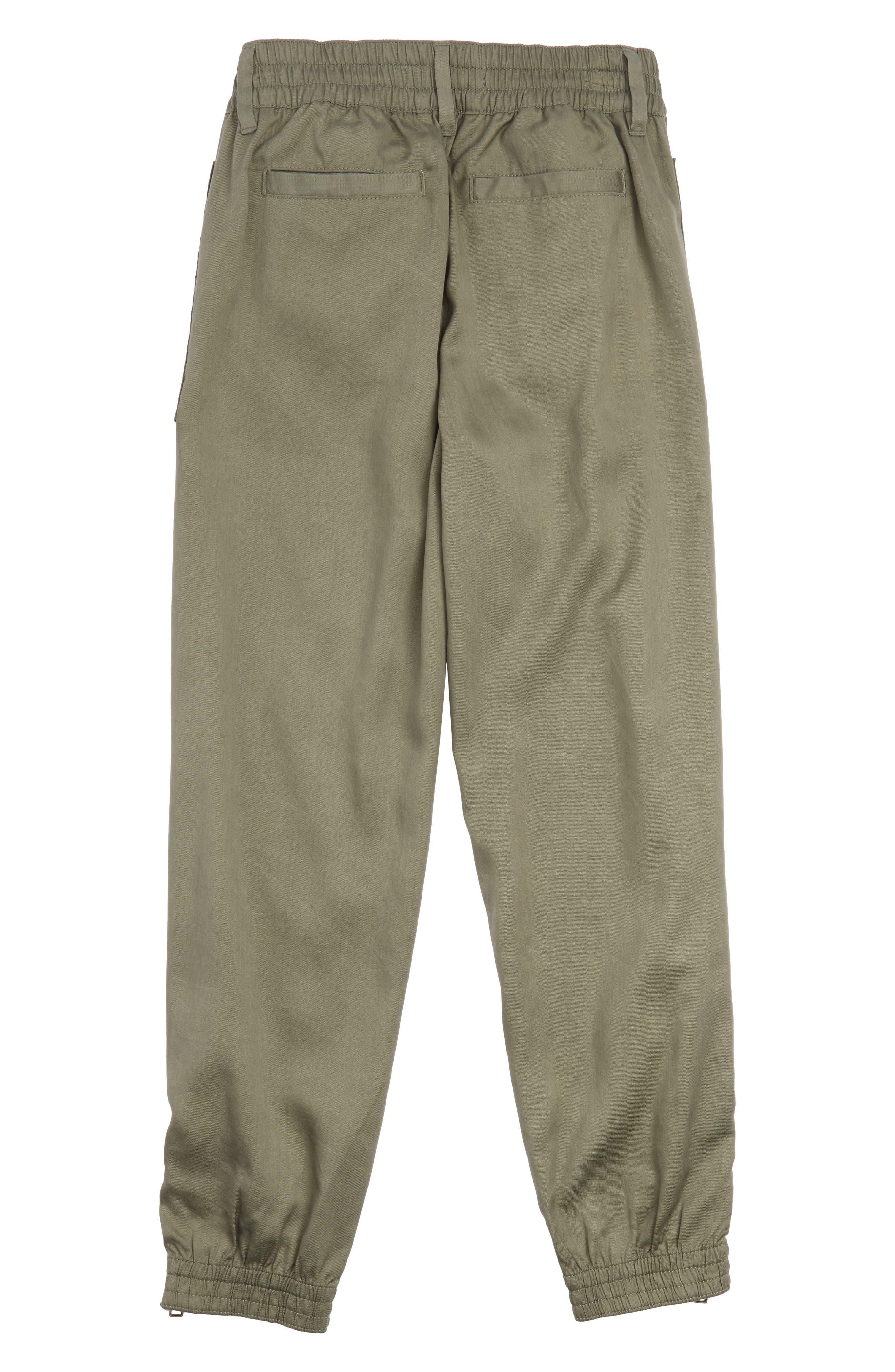 Woven Jogger Pants,                             Alternate thumbnail 4, color,                             Olive Grove