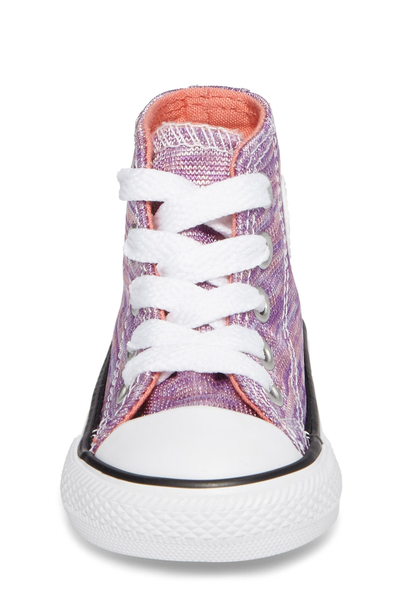 Chuck Taylor<sup>®</sup> All Star<sup>®</sup> Knit High Top Sneaker,                             Alternate thumbnail 4, color,                             Bright Violet Textile