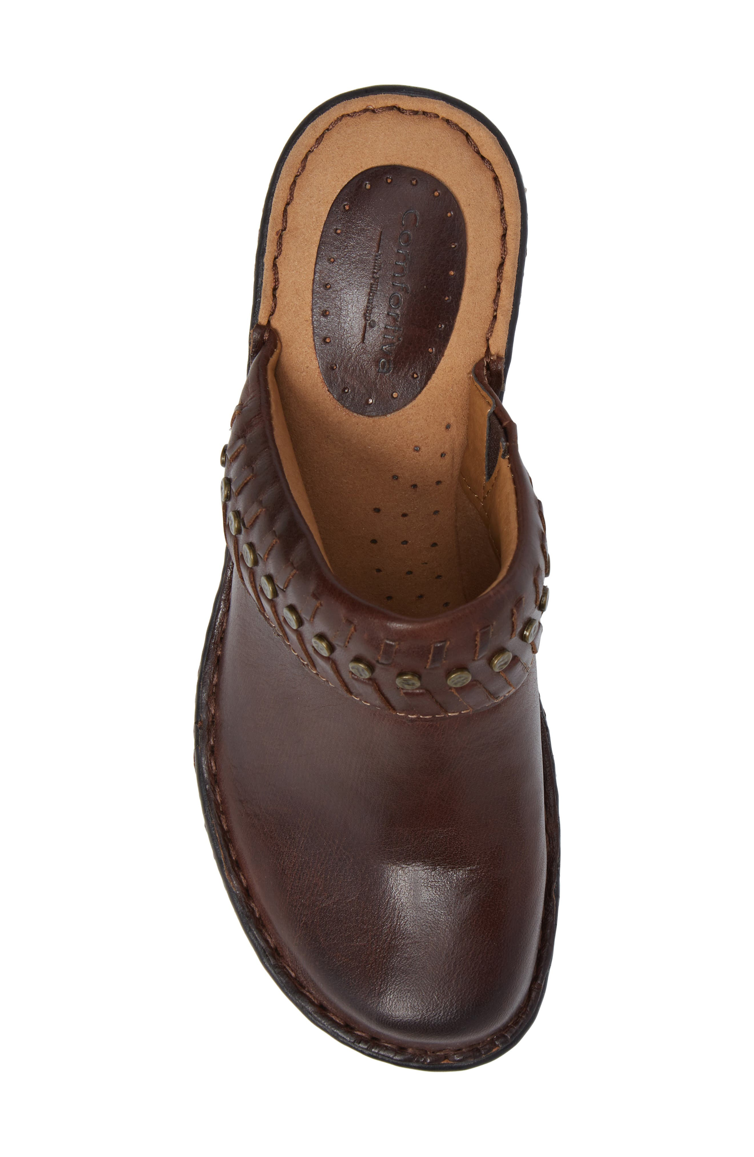 Lorain Clog,                             Alternate thumbnail 5, color,                             Bridle Brown Leather