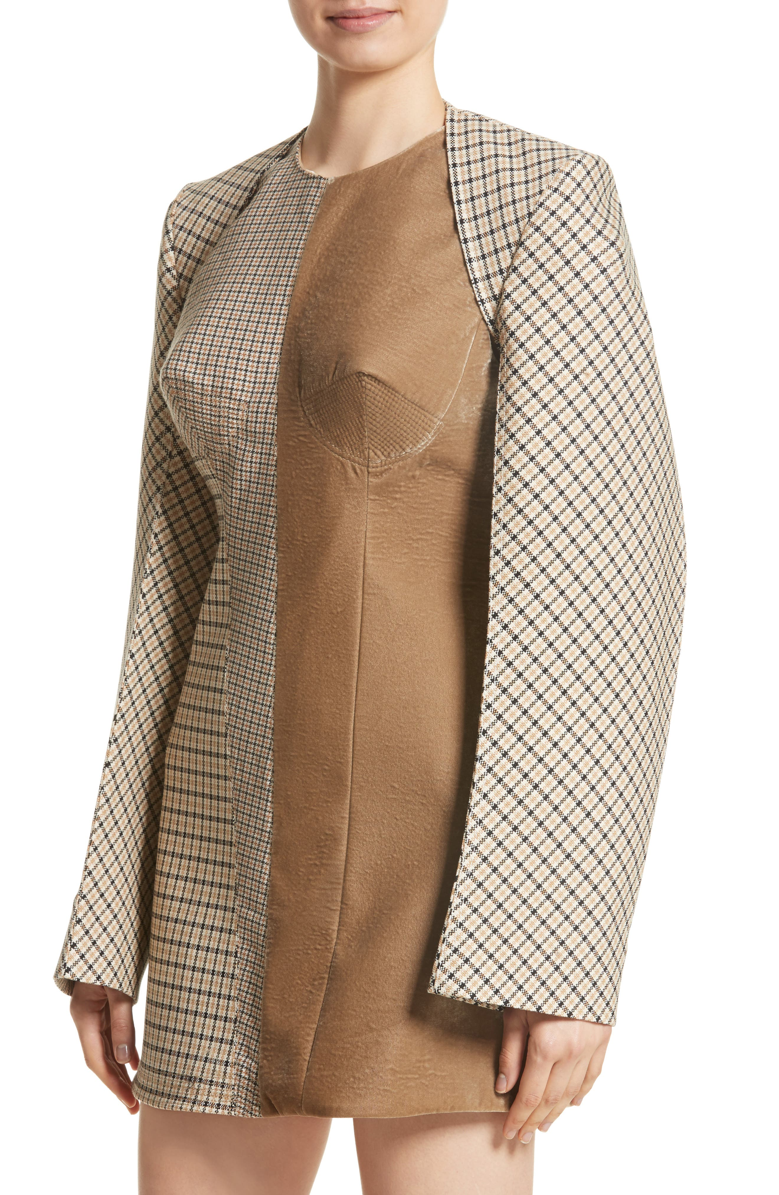 Alternate Image 4  - Stella McCartney Check Wool Blend Shrug