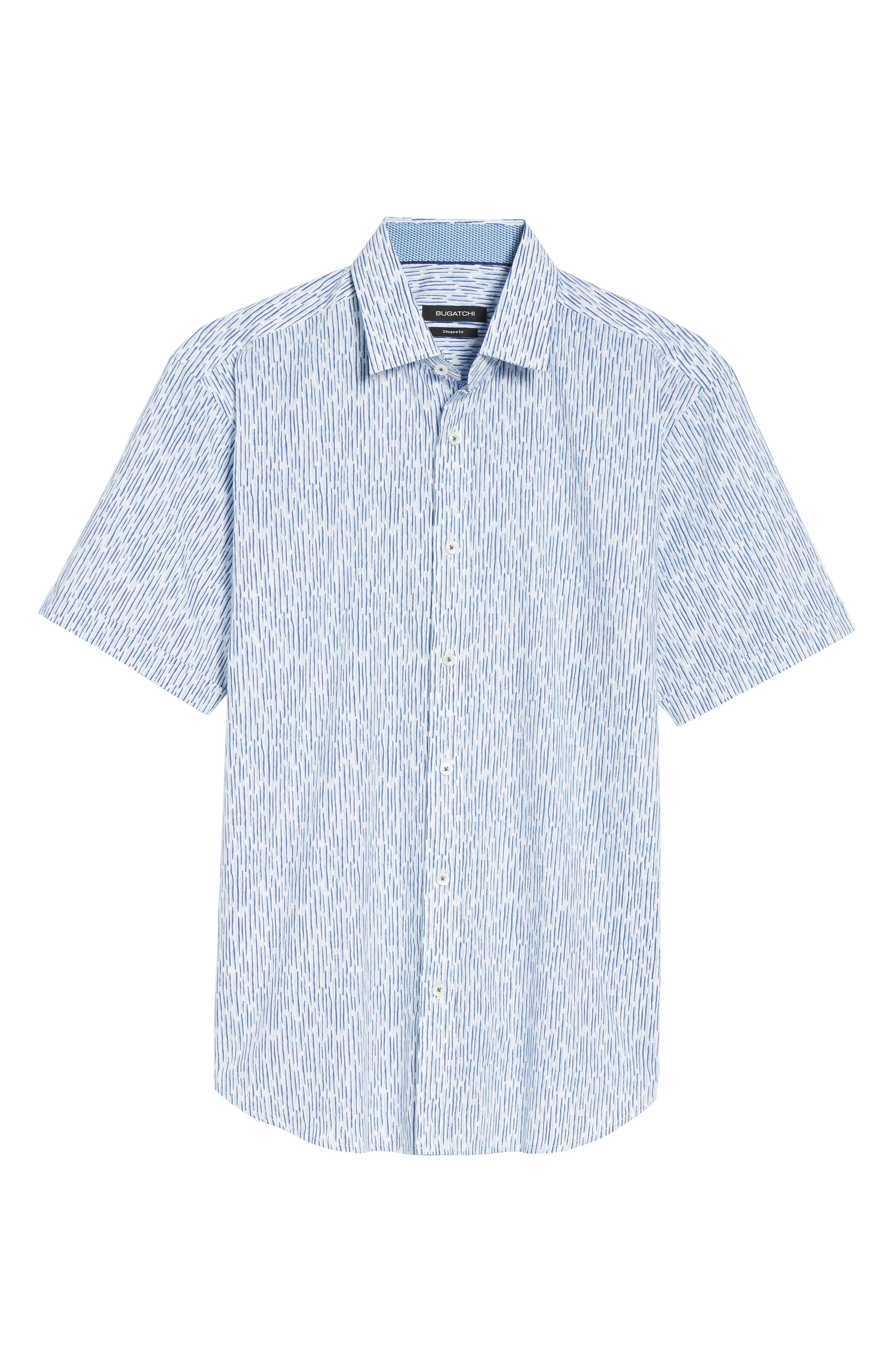 Alternate Image 6  - Bugatchi Shaped Fit Print Sport Shirt