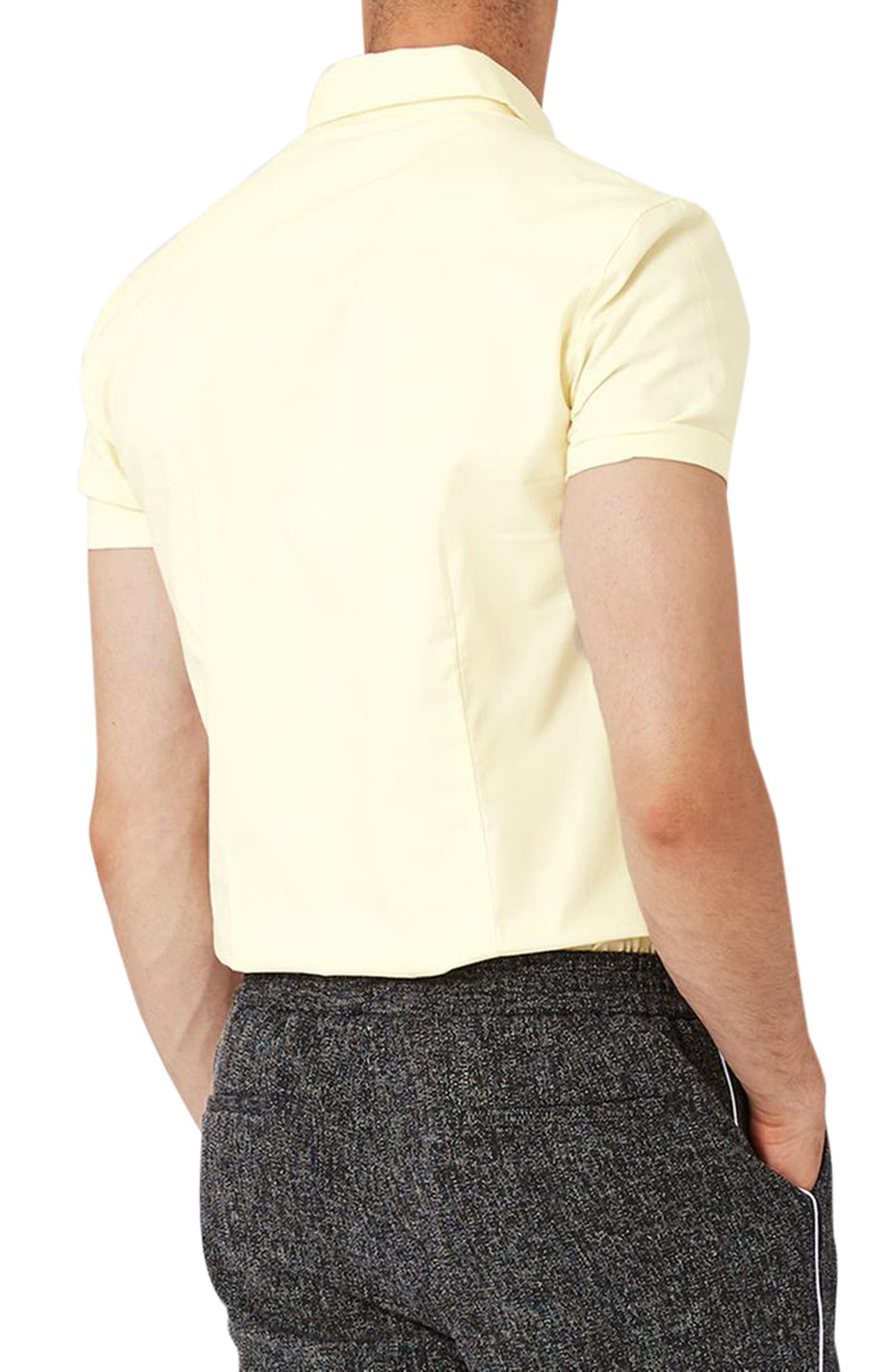 Alternate Image 2  - Topman Slim Fit Stretch Oxford Shirt