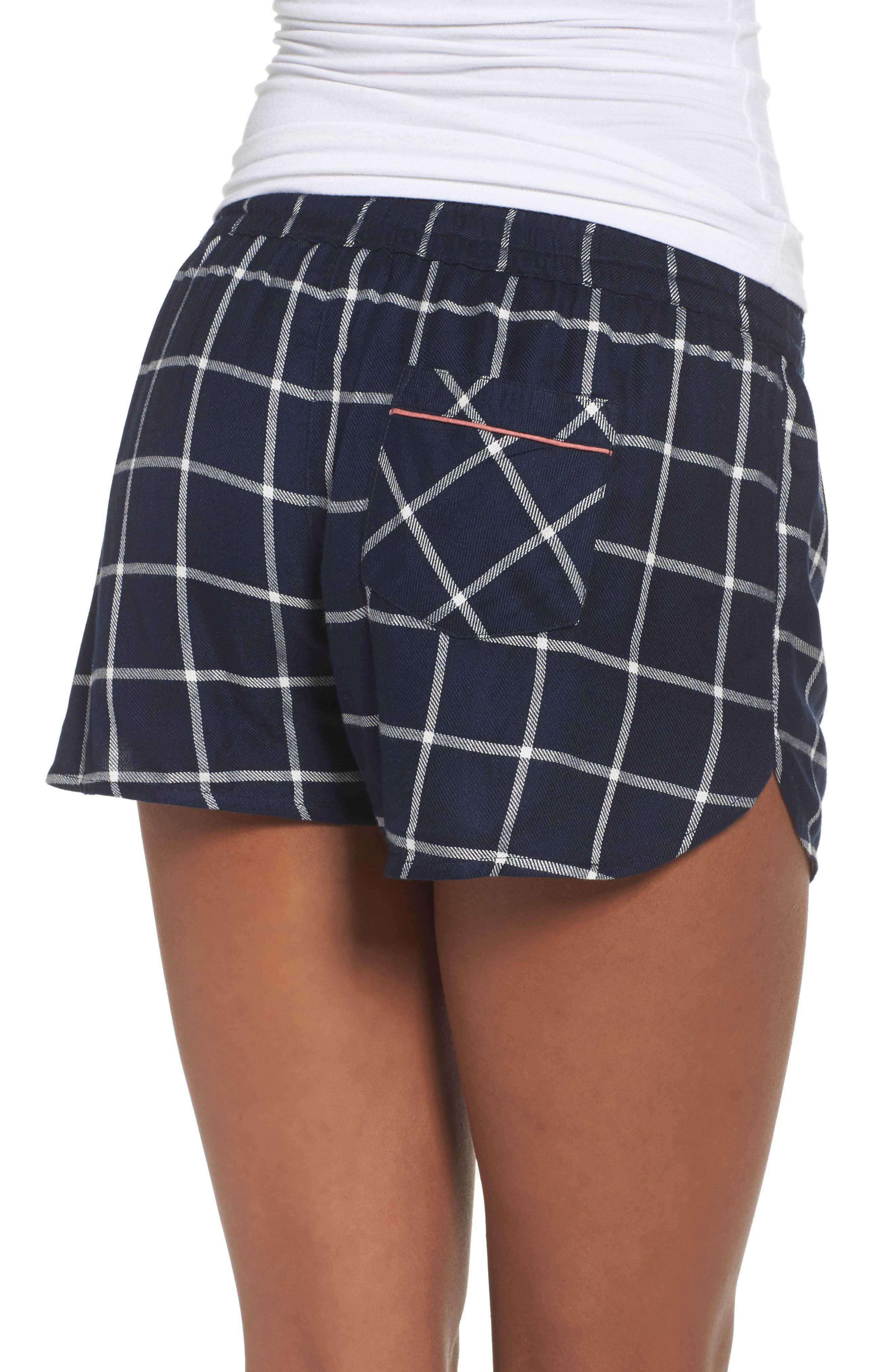 Alternate Image 2  - Topshop Windowpane Check Pajama Shorts