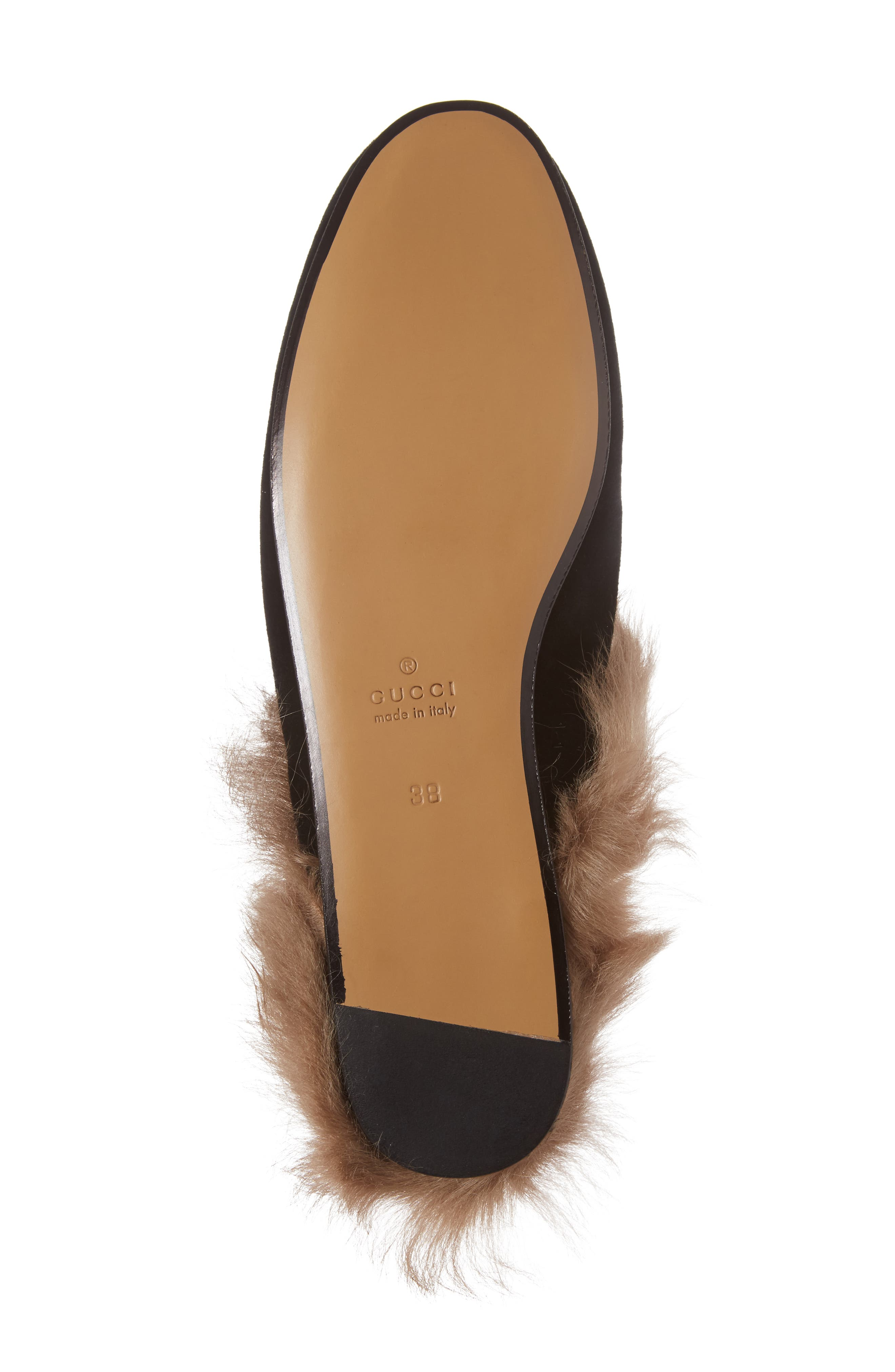 Alternate Image 6  - Gucci 'Princetown' Genuine Shearling Mule Loafer (Women)