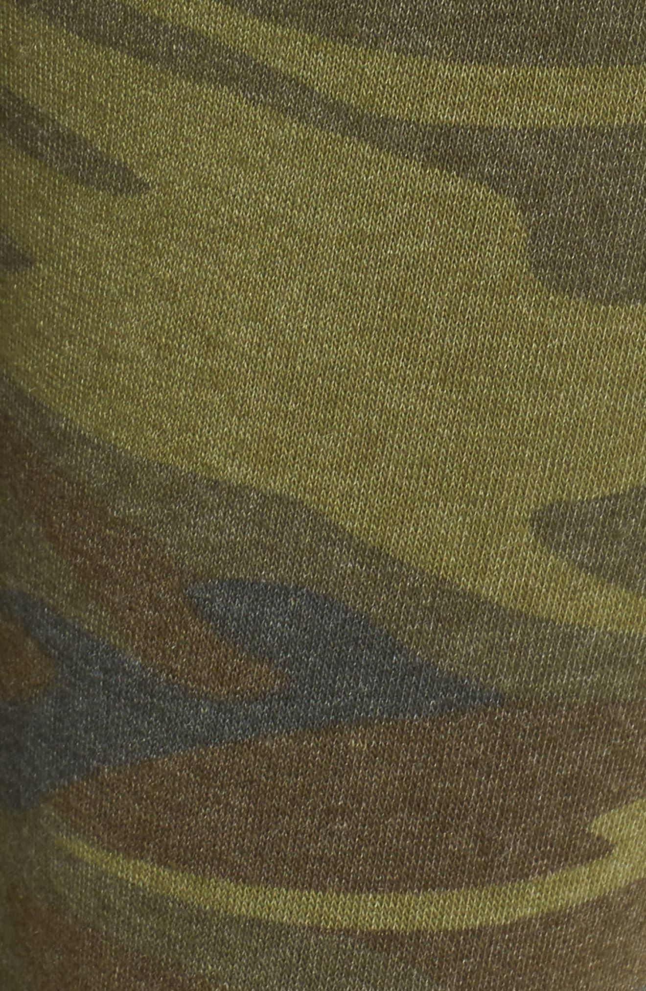 Camo Print Fleece Jogger Pants,                             Alternate thumbnail 6, color,                             Camo