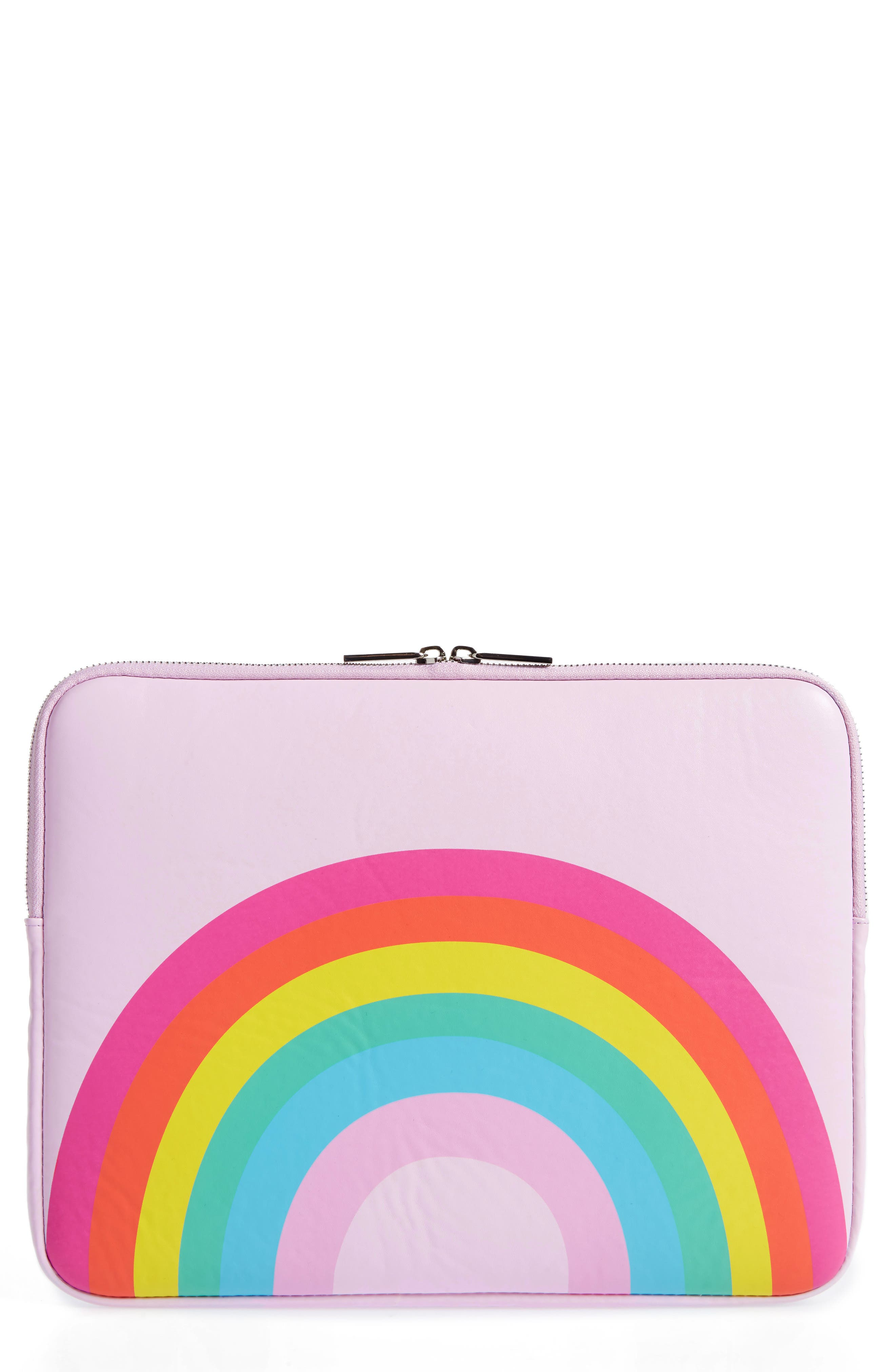 Alternate Image 1 Selected - Skinny Dip Over the Rainbow 13-Inch Laptop Sleeve