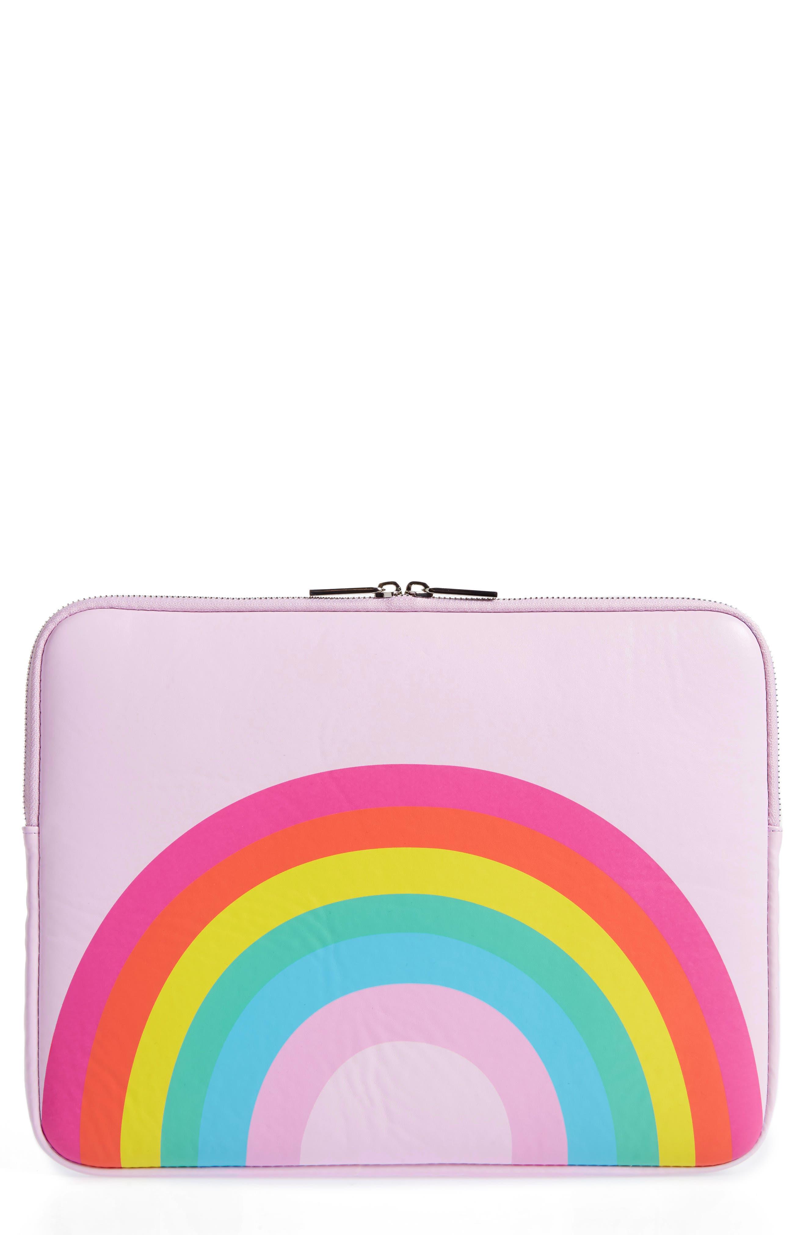 Skinny Dip Over the Rainbow 13-Inch Laptop Sleeve