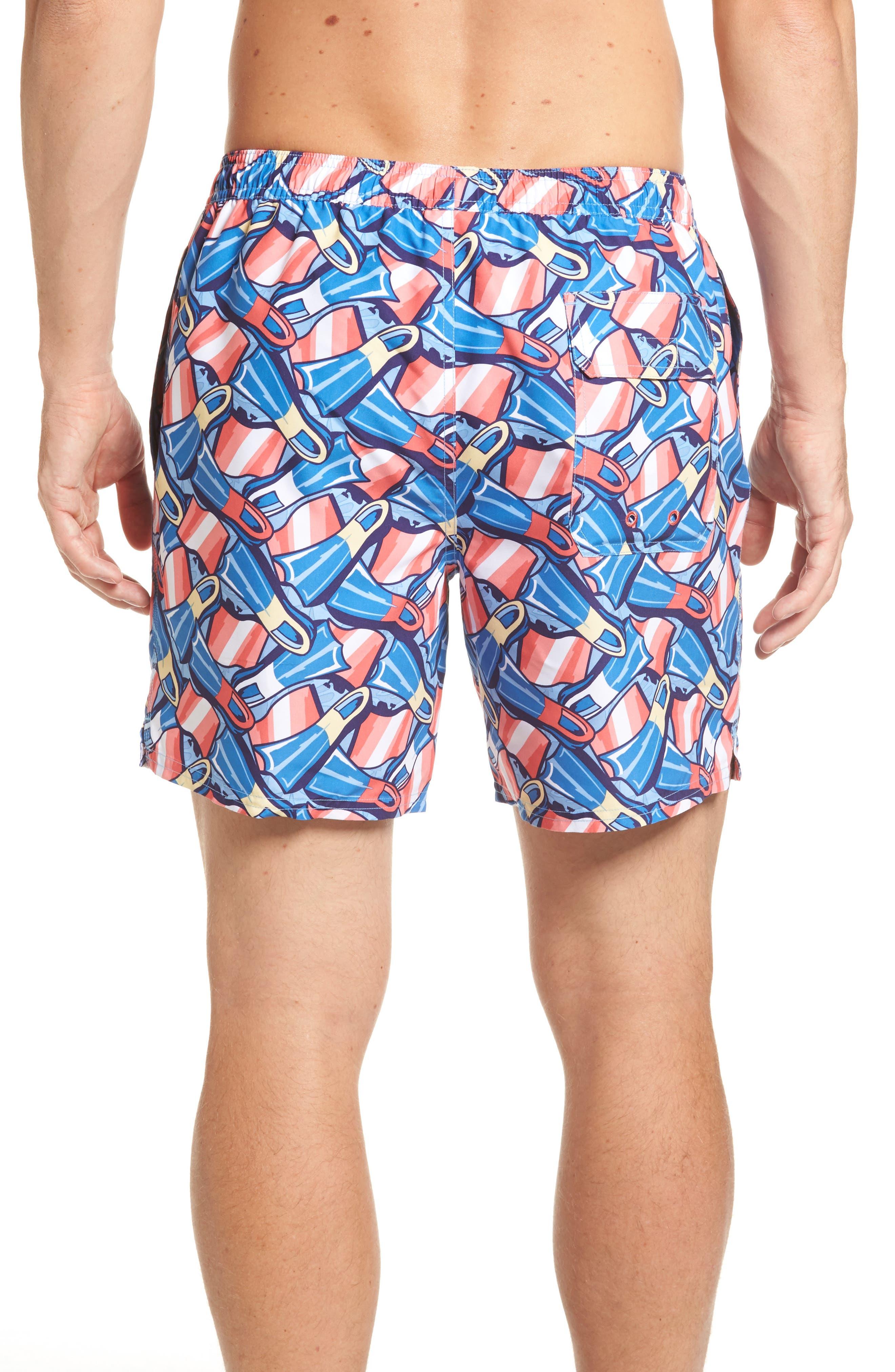 Flippers Chappy Swim Trunks,                             Alternate thumbnail 2, color,                             Dockside Blue