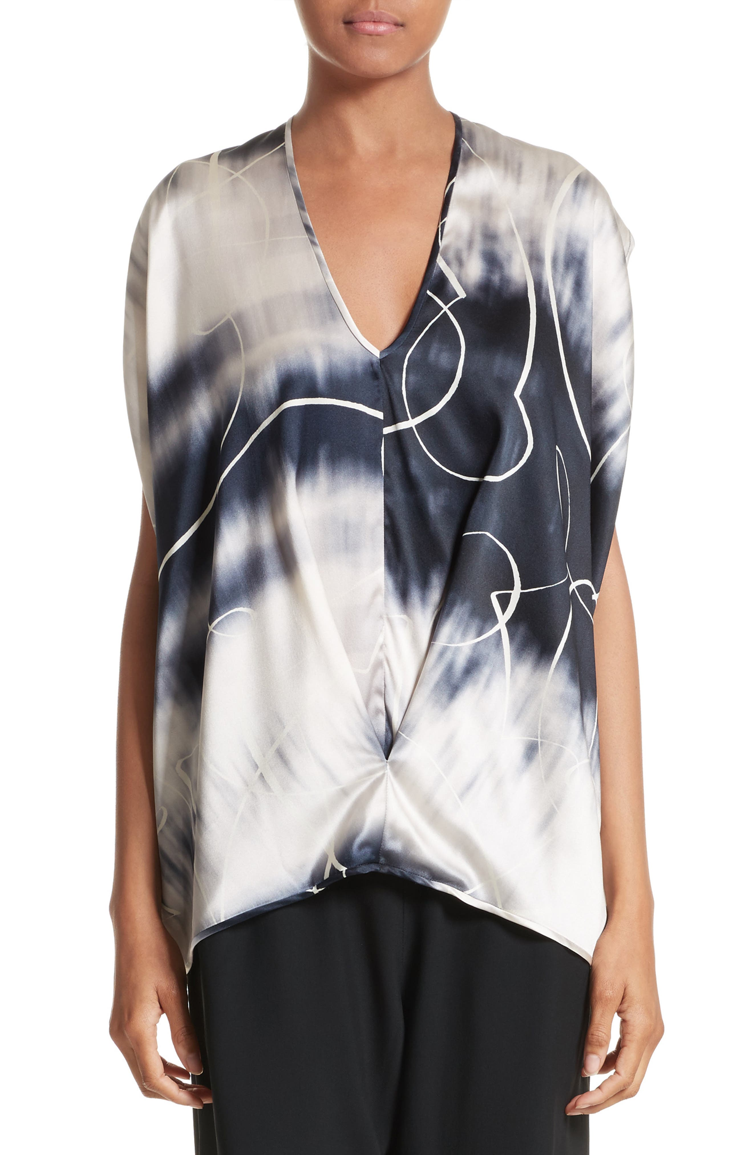 Ani Elliott X-Ray Stretch Silk Tank,                             Main thumbnail 1, color,                             Elliot X-Ray