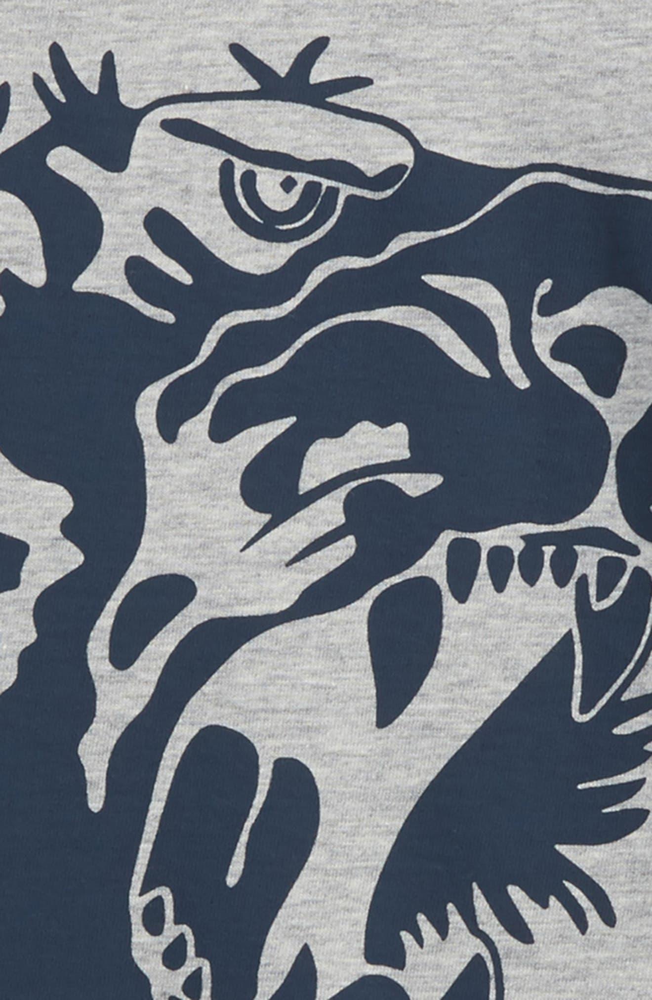 L'Aveugle Par Amour Graphic Sweatshirt,                             Alternate thumbnail 3, color,                             Grey Multi