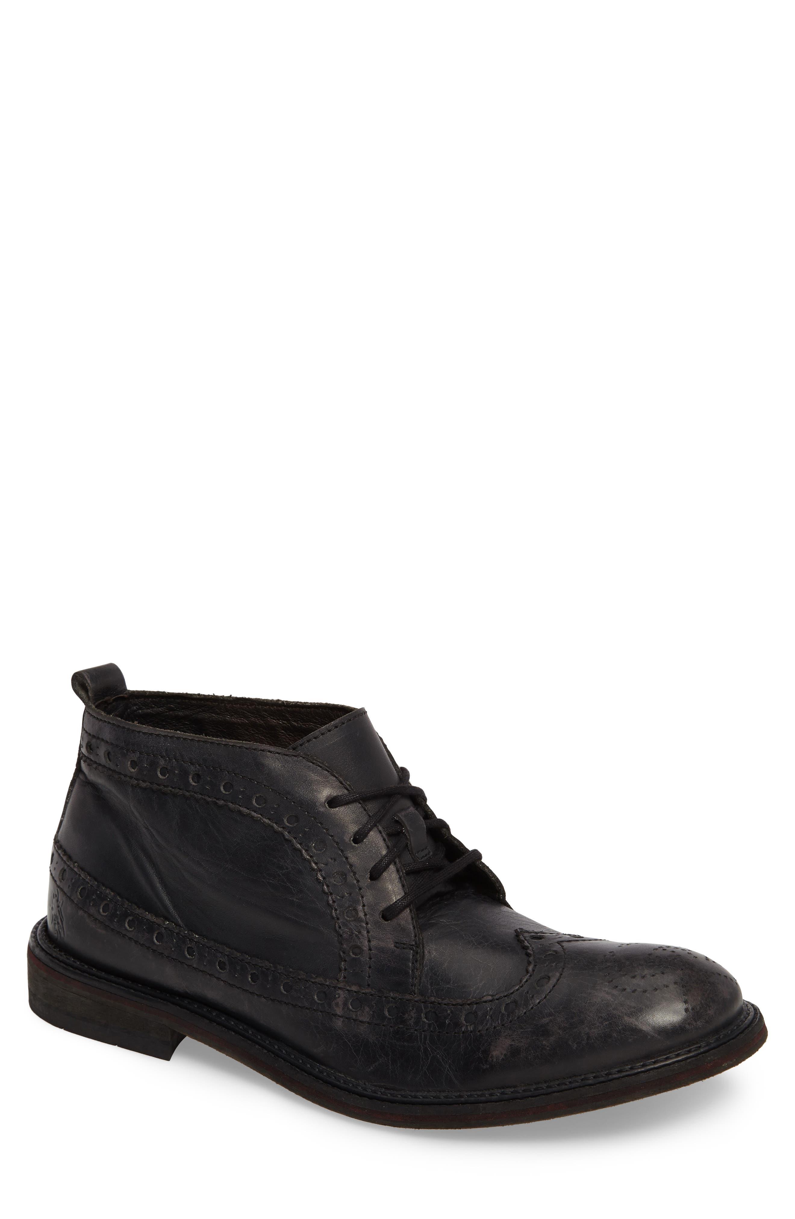 Wile Wingtip Chukka Boot,                         Main,                         color, Black