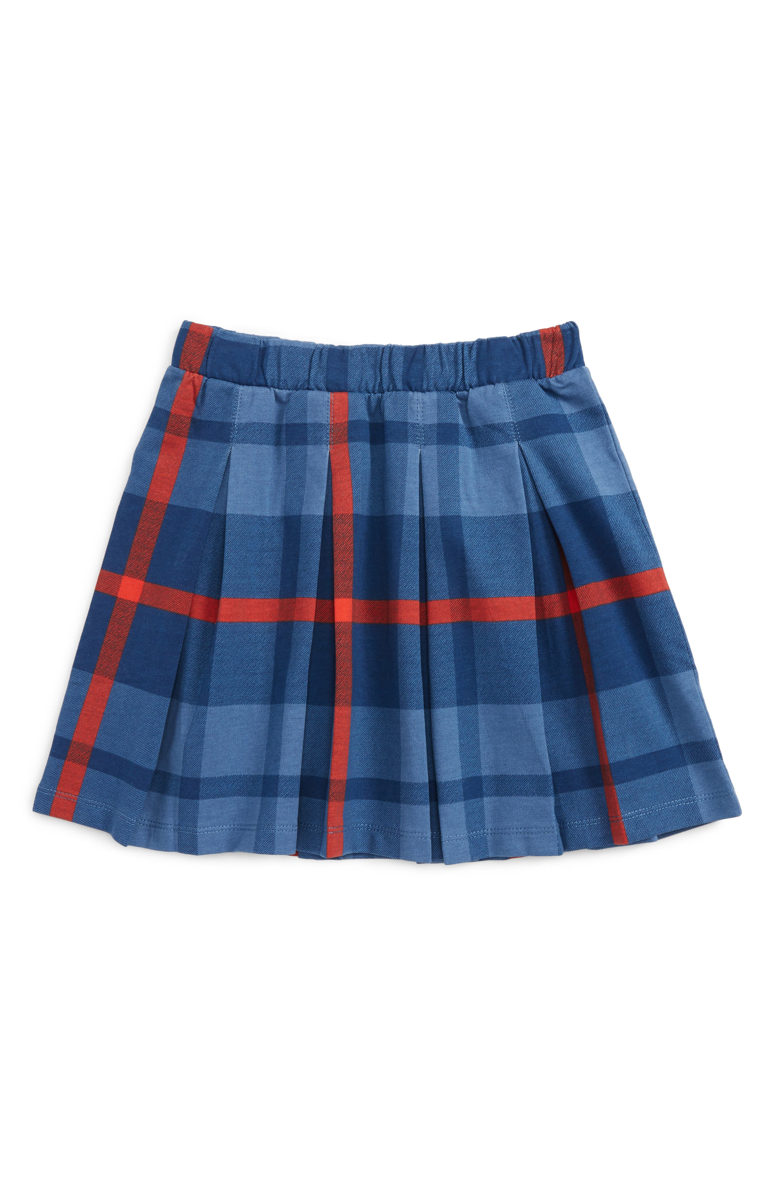 Tartan Pleated Skirt,                             Main thumbnail 1, color,                             French Blue