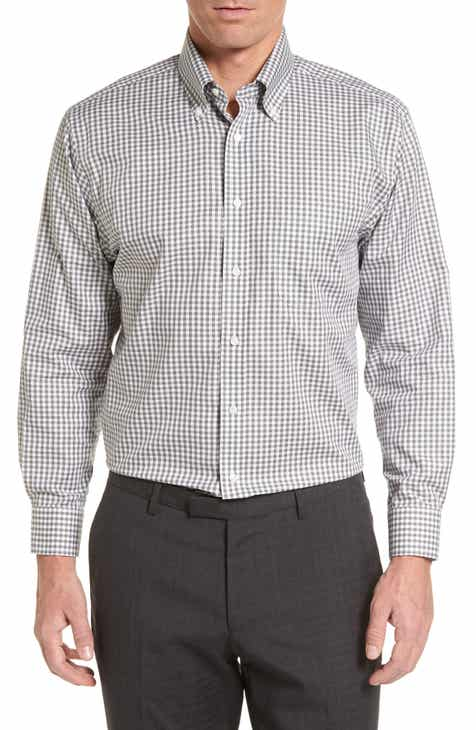 b8e62c96bd3 Nordstrom Men s Shop Traditional Fit Non-Iron Gingham Dress Shirt