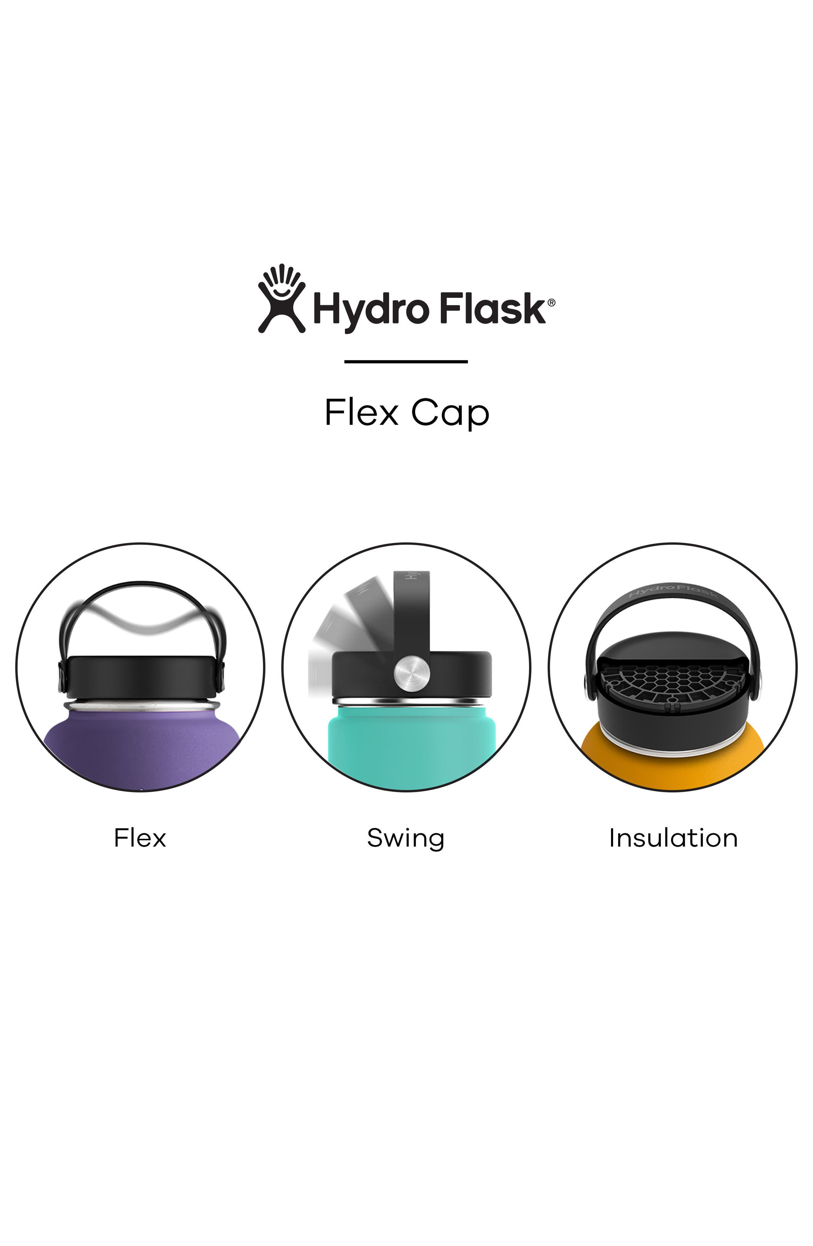 Alternate Image 2  - Hydro Flask 40-Ounce Wide Mouth Cap Bottle
