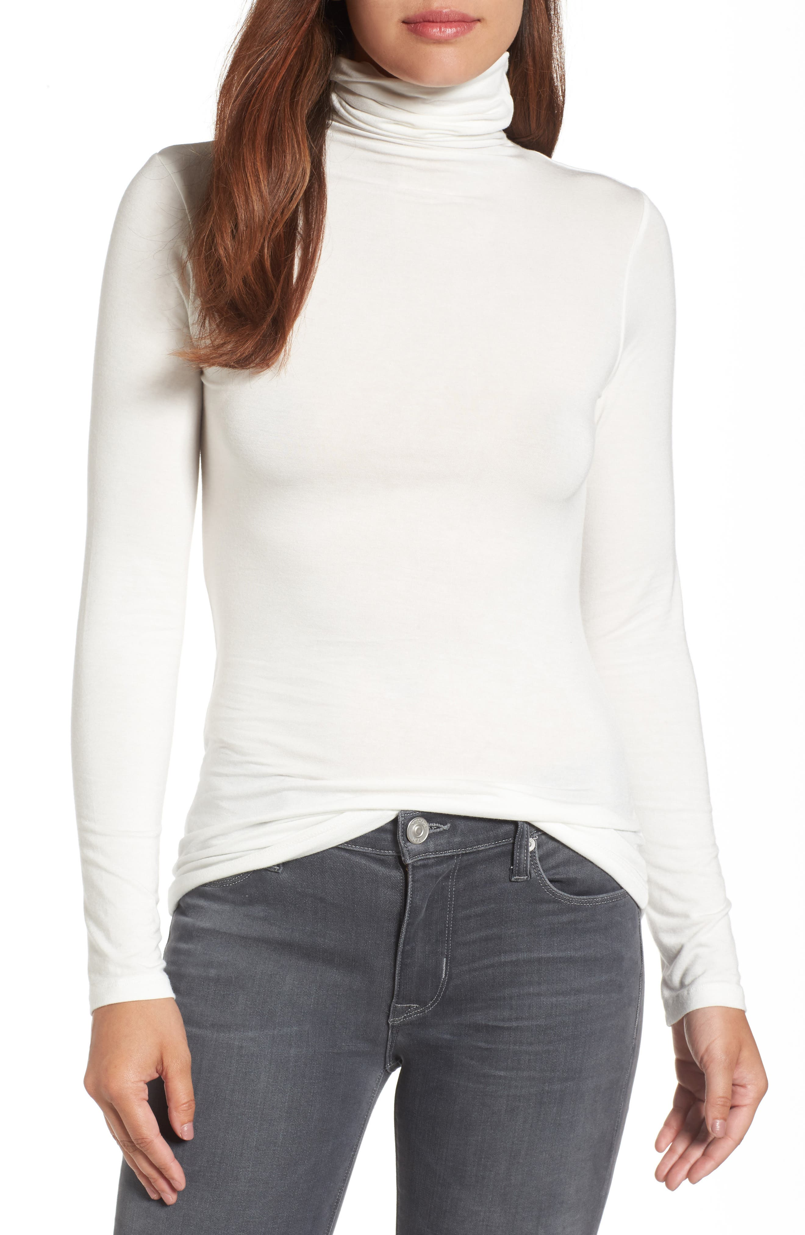 Halogen® Long Sleeve Turtleneck (Regular & Petite)