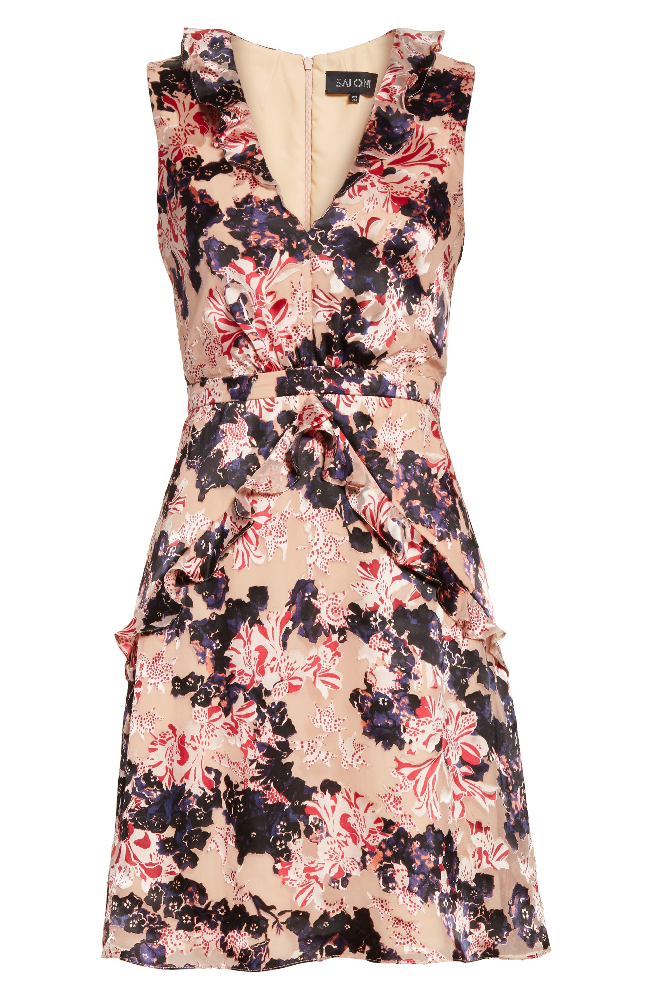Lara Fit & Flare Dress,                             Alternate thumbnail 6, color,                             Tigerlily