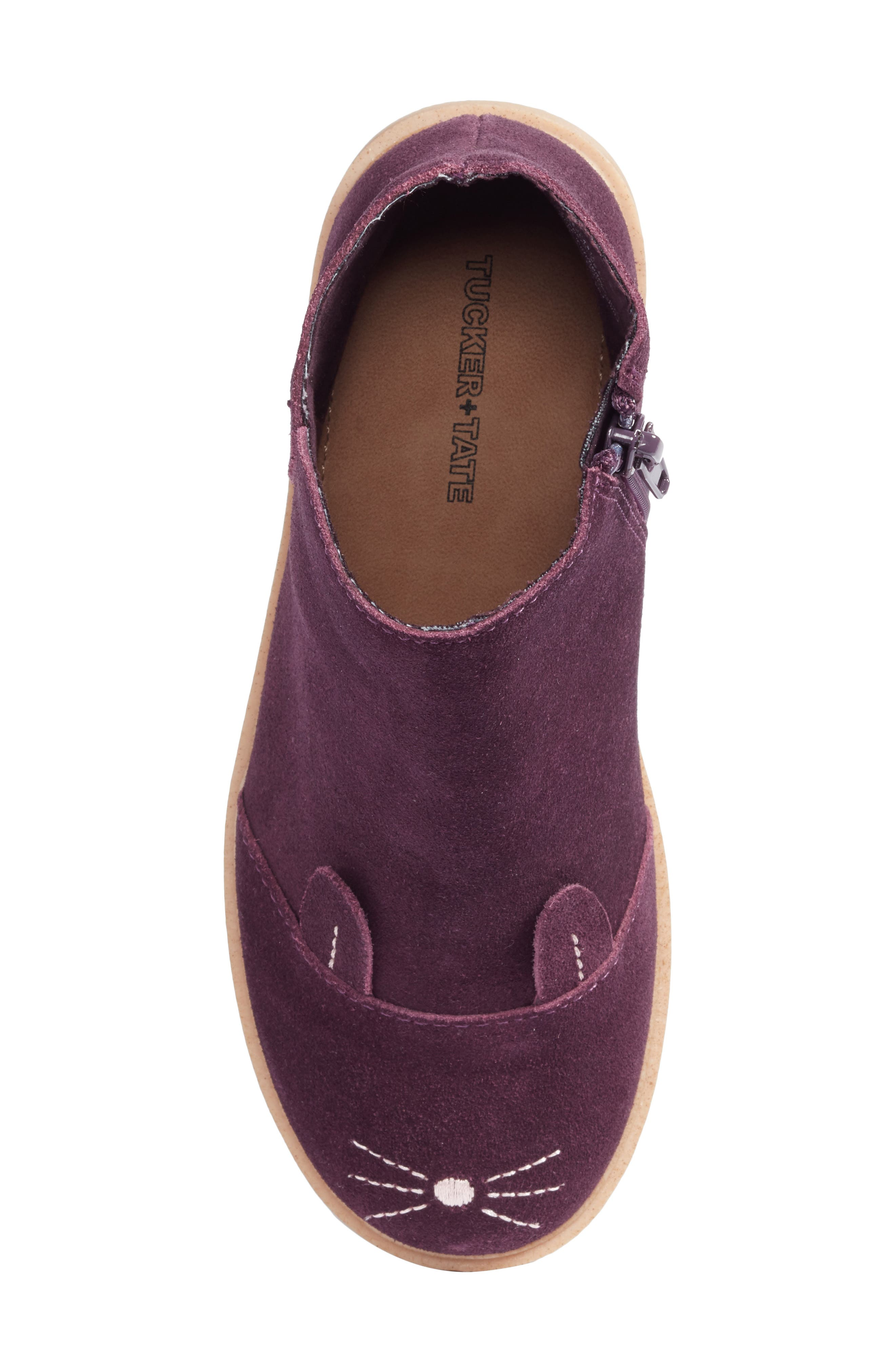 Bunny Boot,                             Alternate thumbnail 5, color,                             Berry Leather
