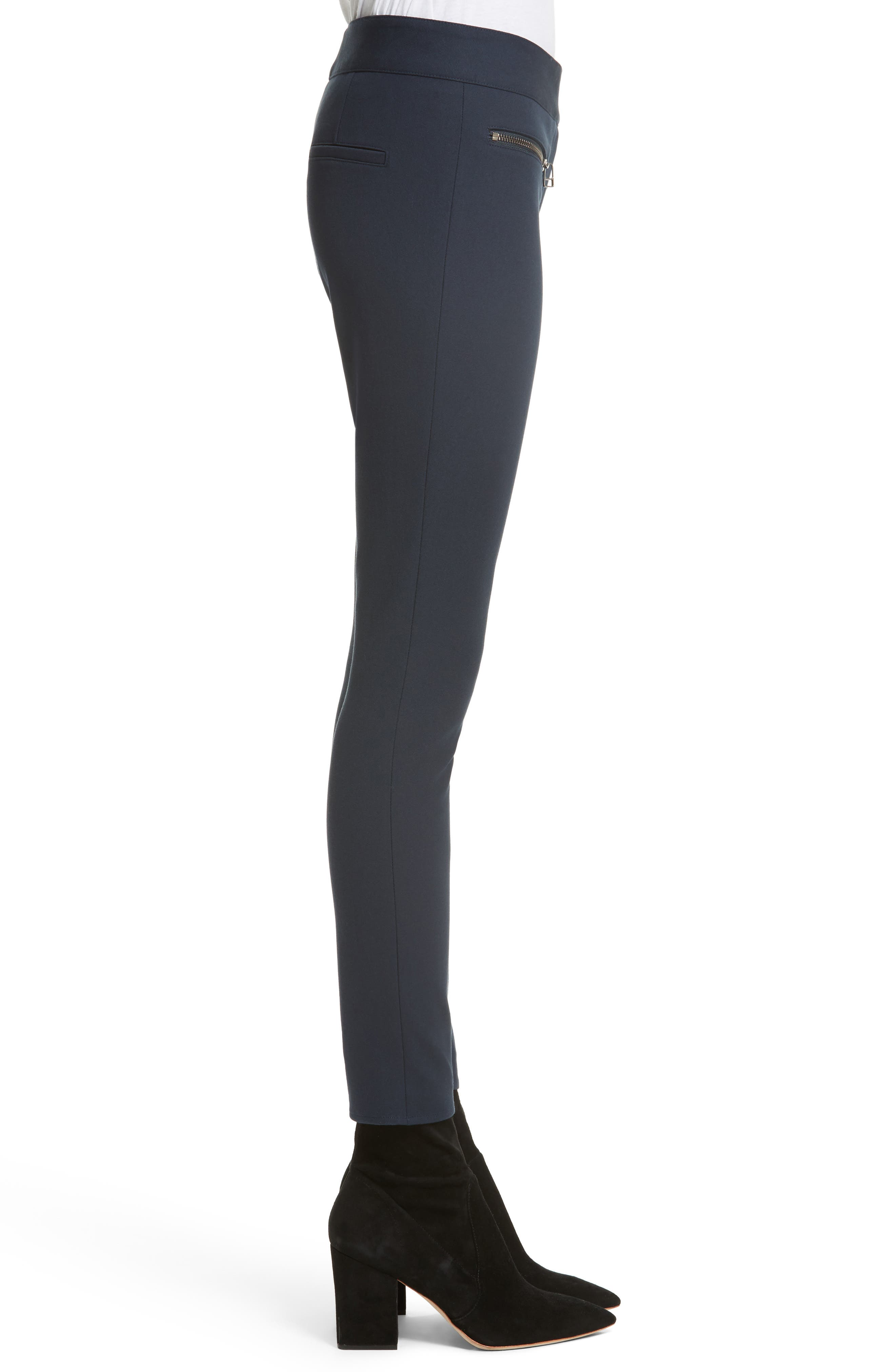 Ankle Skinny Pants,                             Alternate thumbnail 3, color,                             Navy