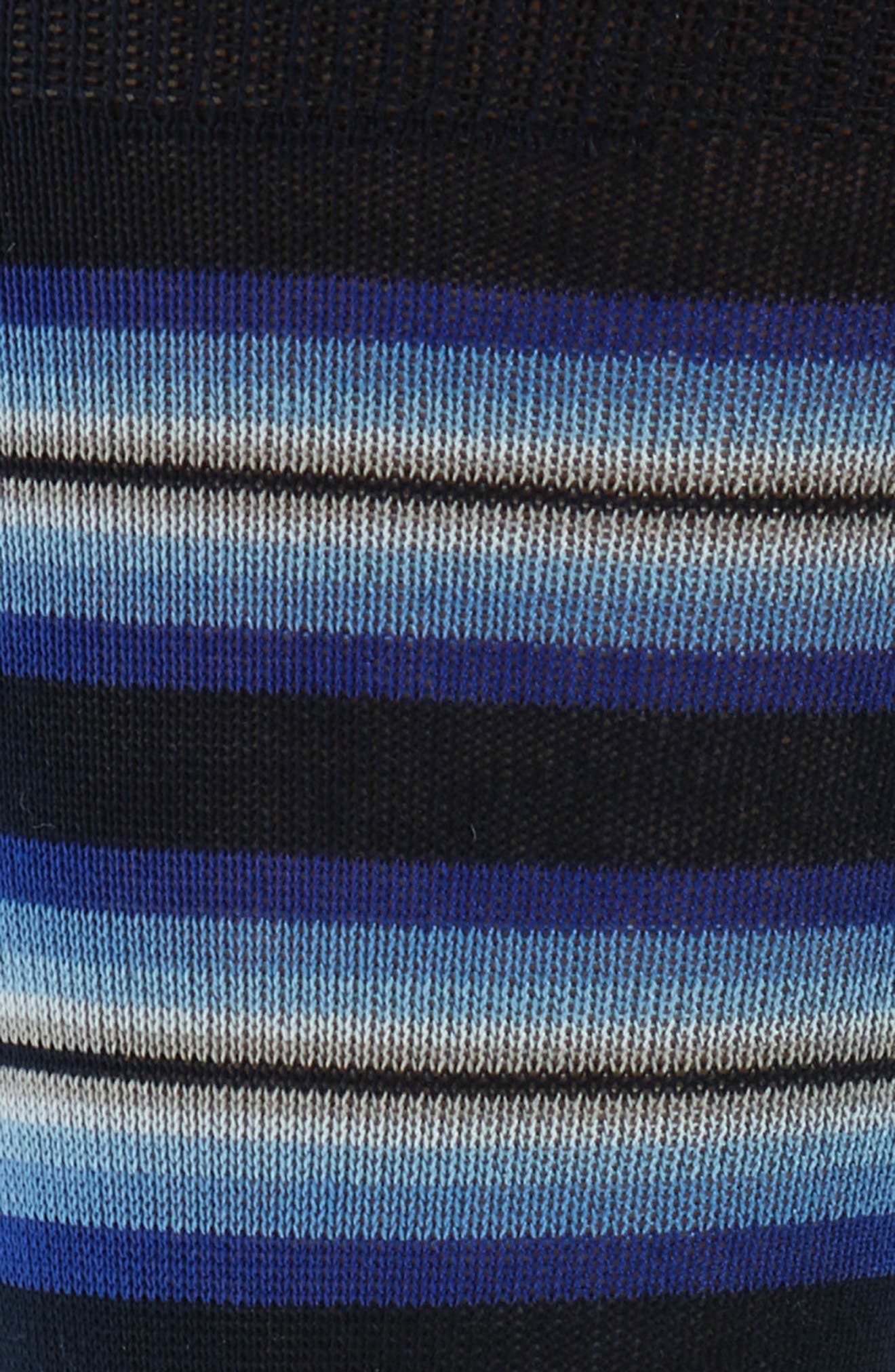Tiger Stripe Socks,                             Alternate thumbnail 2, color,                             Blue/ Dark Blue