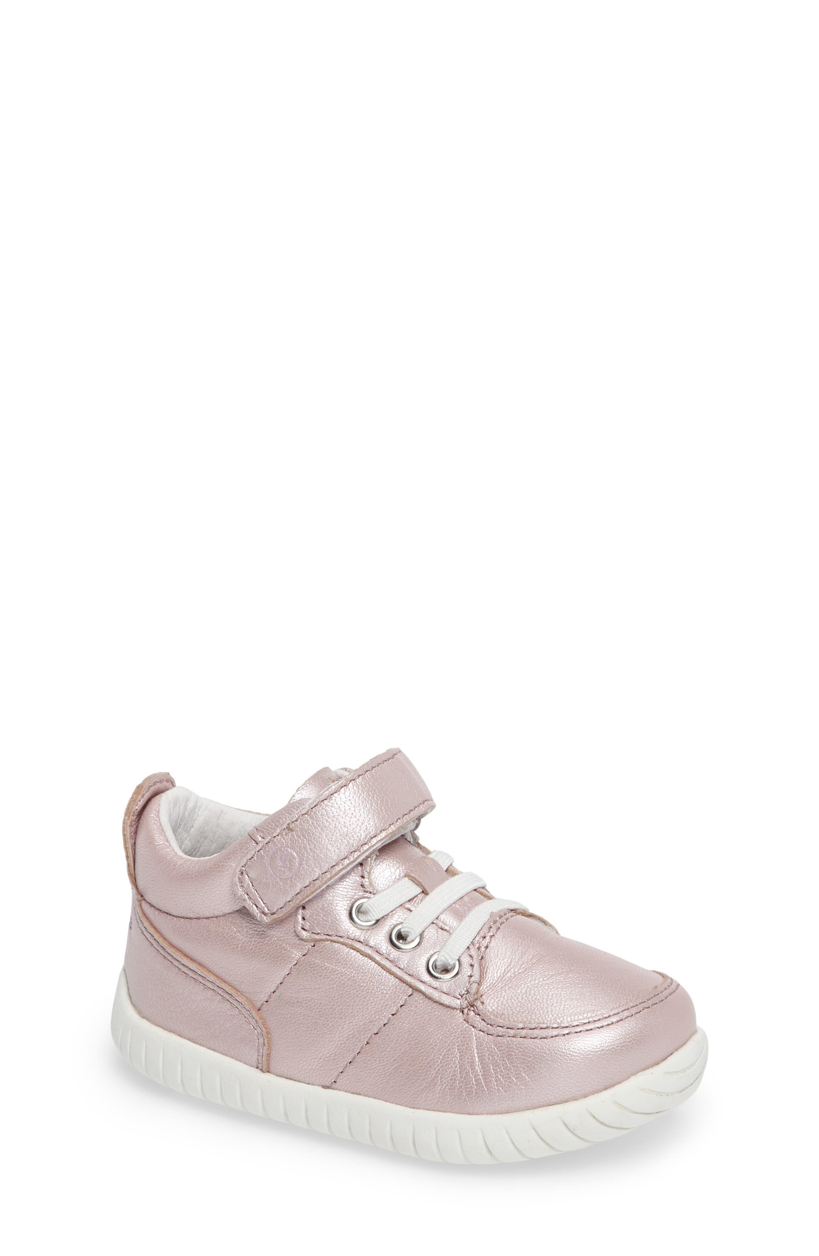 Bailey High Top Sneaker,                             Main thumbnail 1, color,                             Pink Metallic