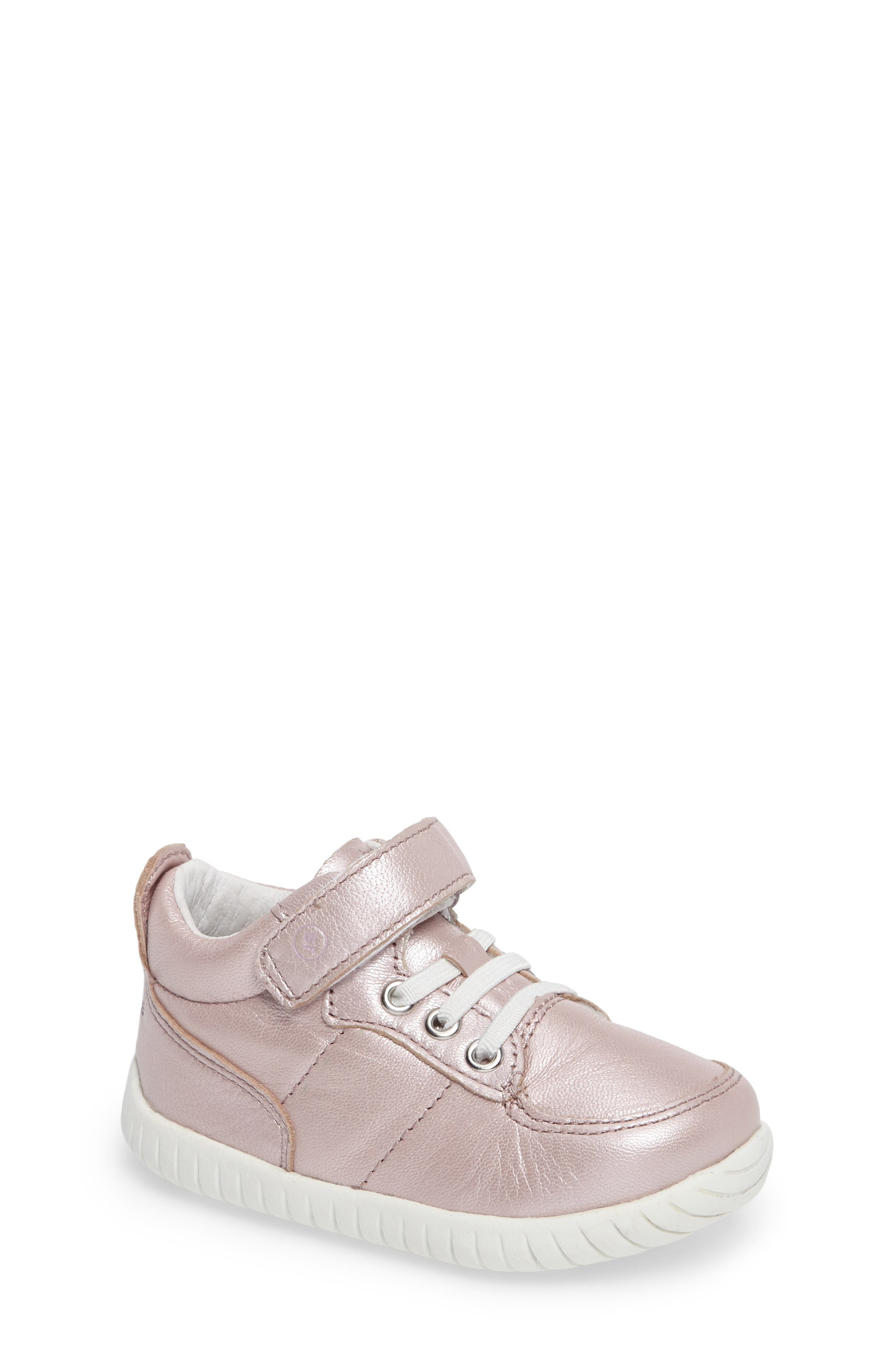 Bailey High Top Sneaker,                         Main,                         color, Pink Metallic