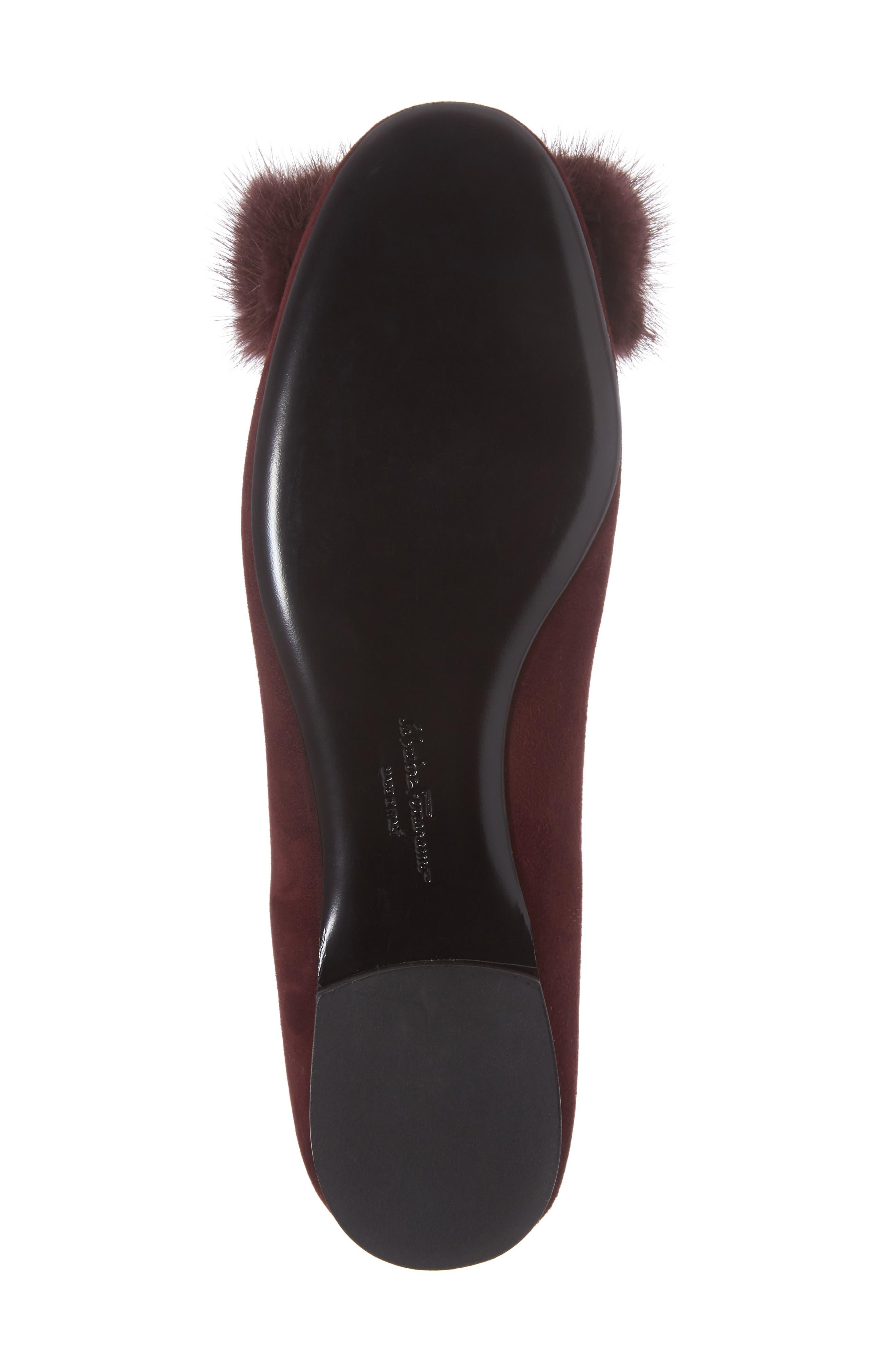 Alternate Image 6  - Salvatore Ferragamo Genuine Mink Fur Flat (Women)