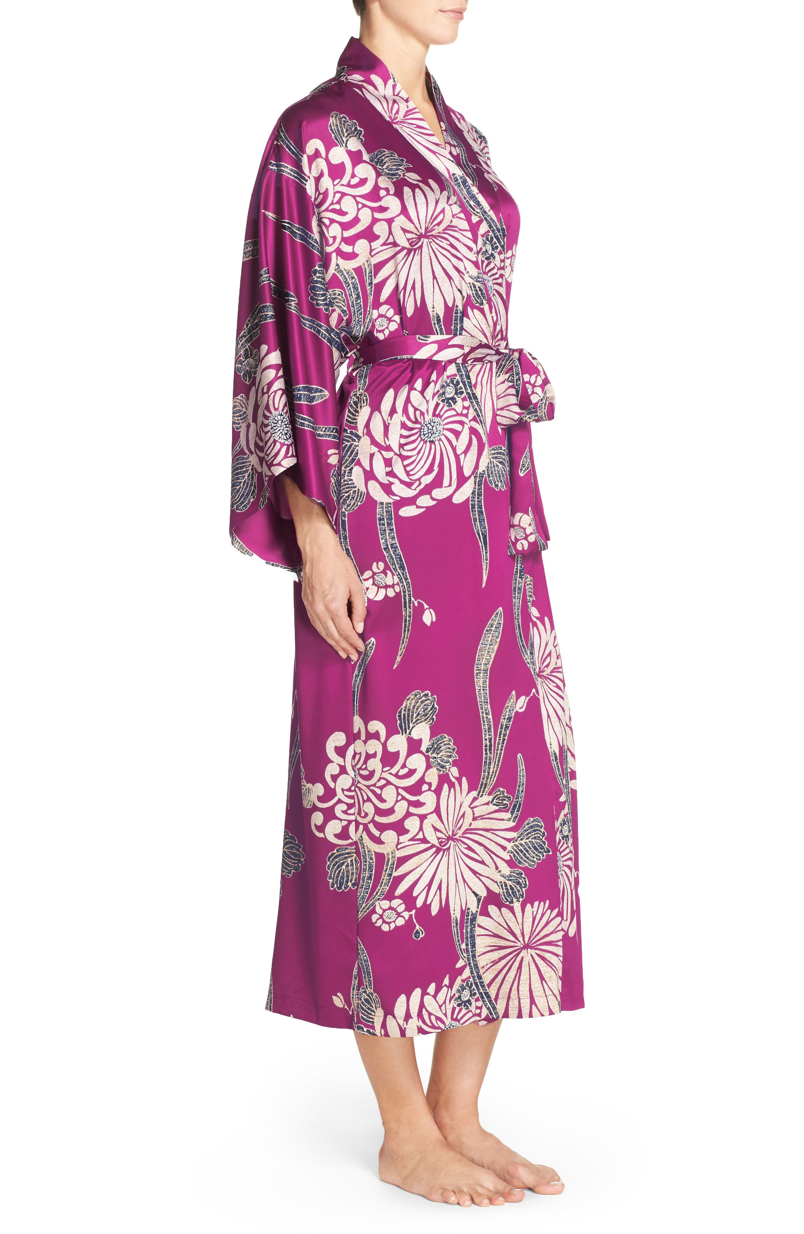 Alternate Image 3  - Natori Aizome Satin Robe