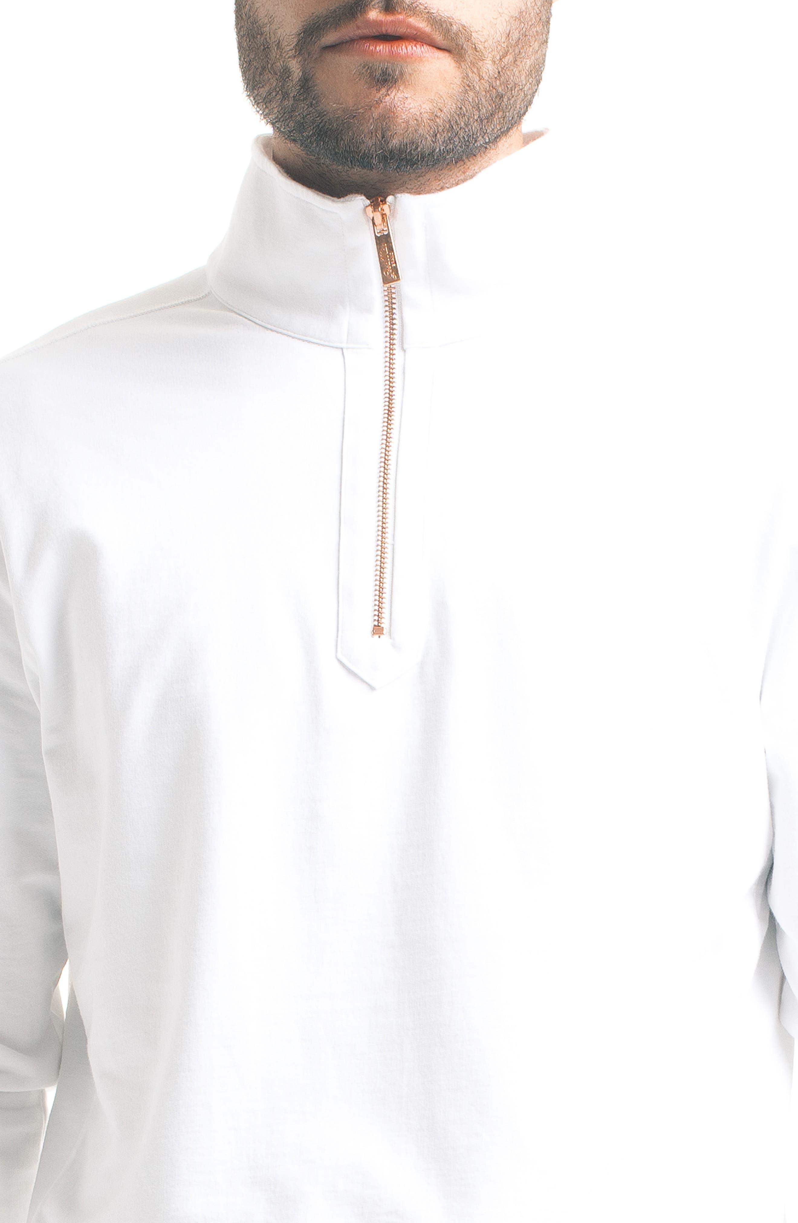 Slim Pro Quarter Zip Pullover,                             Alternate thumbnail 4, color,                             White